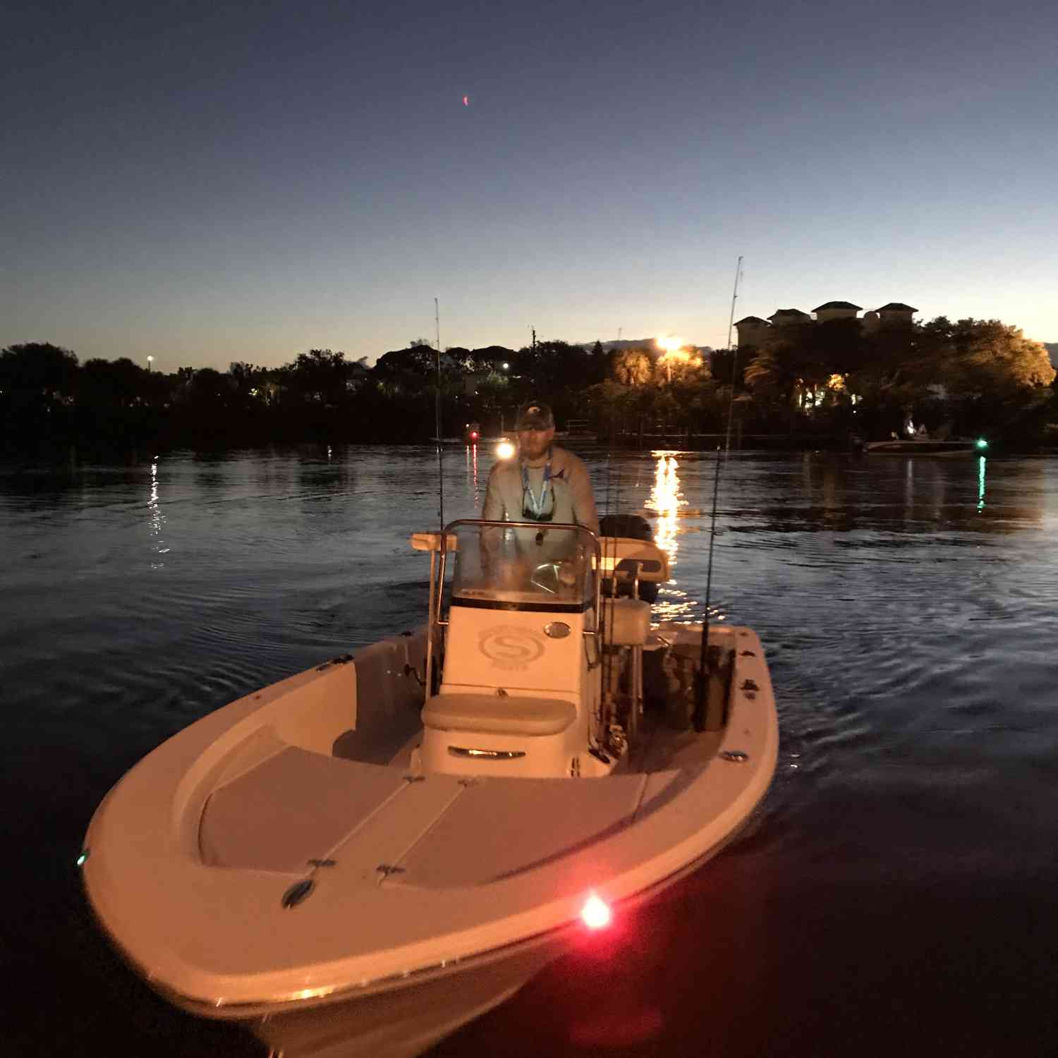 Title: Early morning - On board their Sportsman Island Bay 18 Bay Boat - Location: New Smyrna beach, Florida. Participating in the Photo Contest #SportsmanNovember2018