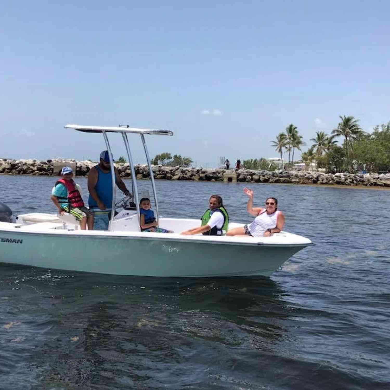 Title: Sportsman Fun in the Keys - On board their Sportsman Island Reef 17 Center Console - Location: Key Largo, Fl. Participating in the Photo Contest #SportsmanNovember2018