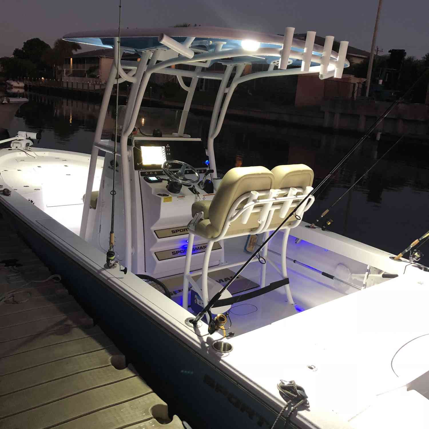 Title: It's lit - On board their Sportsman Masters 247 Bay Boat - Location: Fort Myers Florida. Participating in the Photo Contest #SportsmanNovember2018