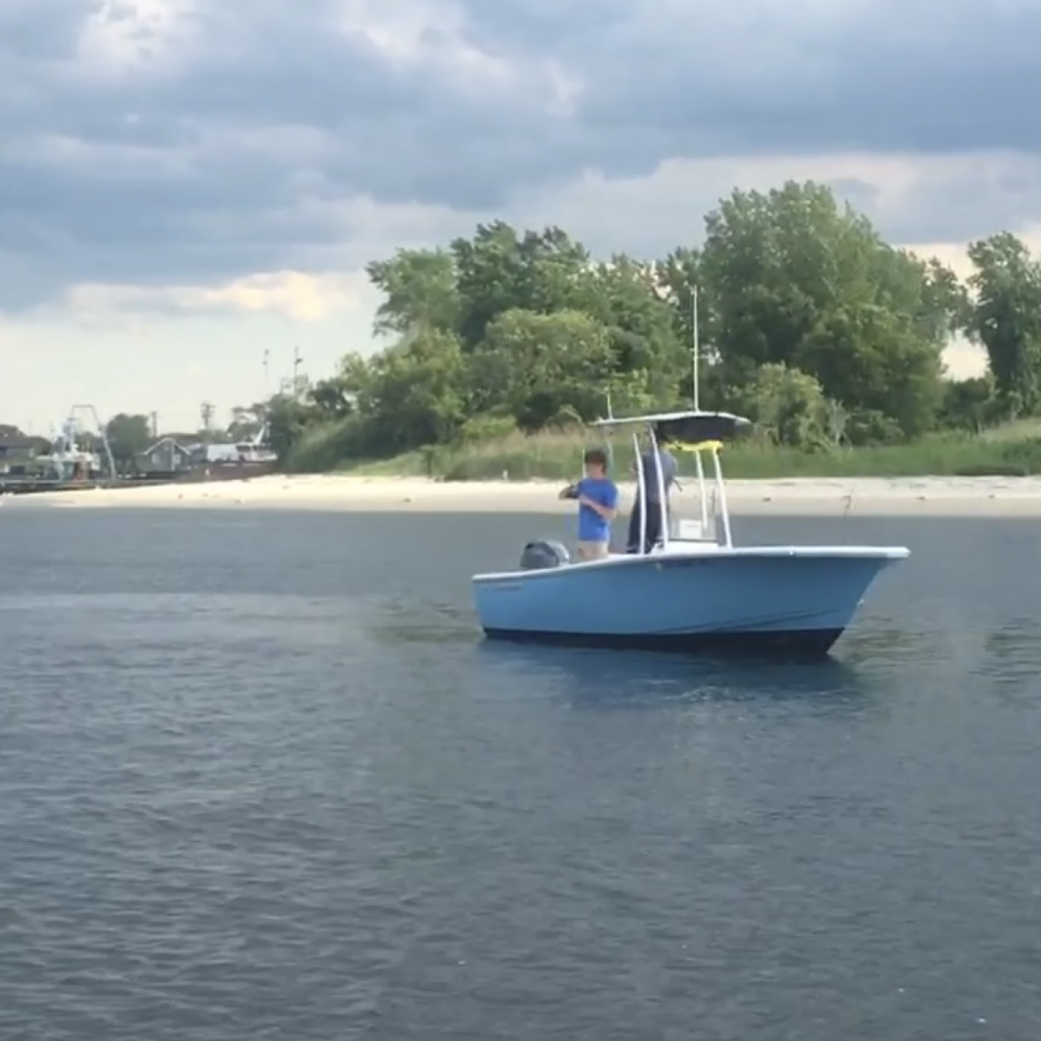 Title: Manasquan bluefish run - On board their Sportsman Island Reef 19 Center Console - Location: Manasquan. Participating in the Photo Contest #SportsmanOctober2018