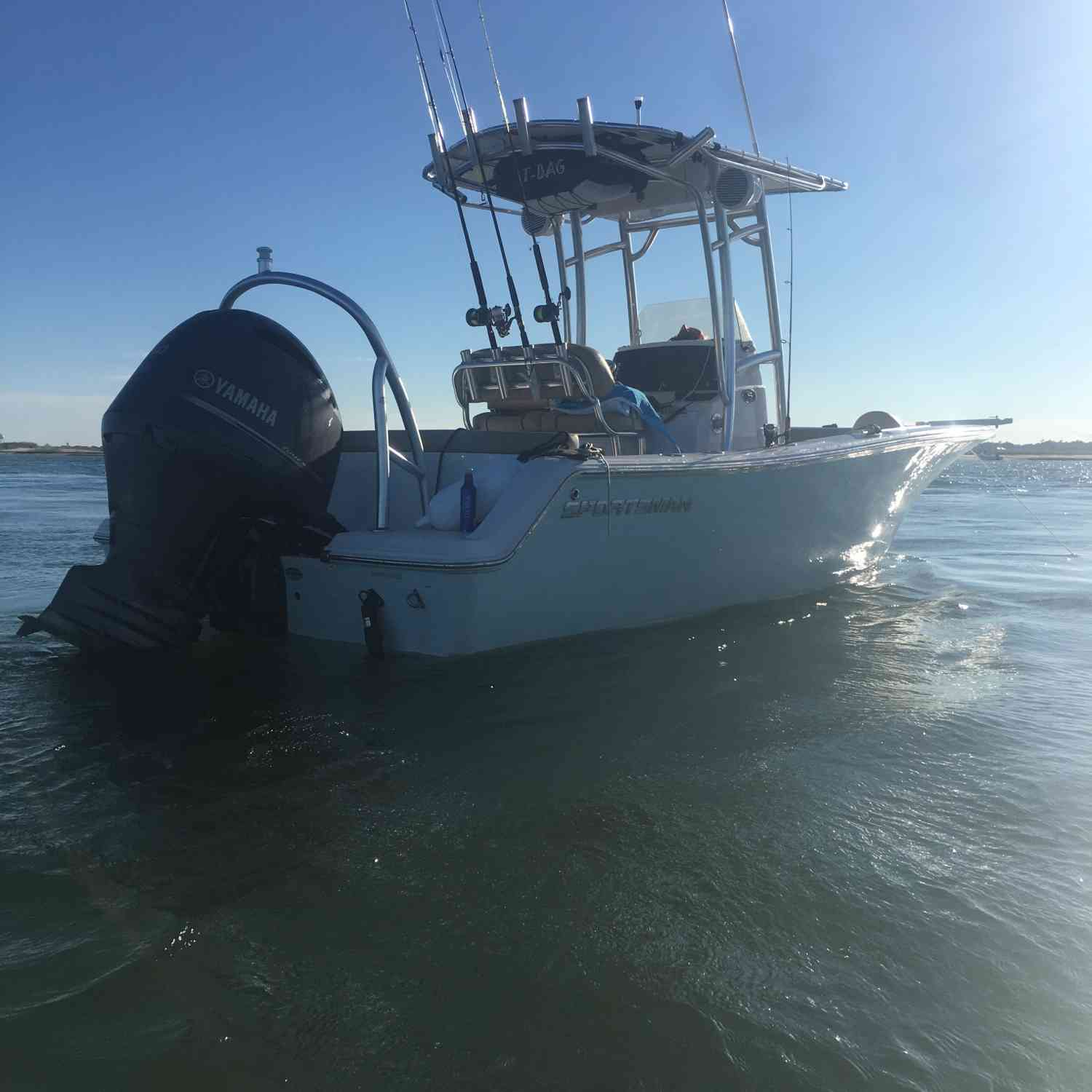 Title: Calm before the Storm #GoAwayFlo - On board their Sportsman Heritage 211 Center Console - Location: Wrightsville Beach, NC. Participating in the Photo Contest #SportsmanOctober2018