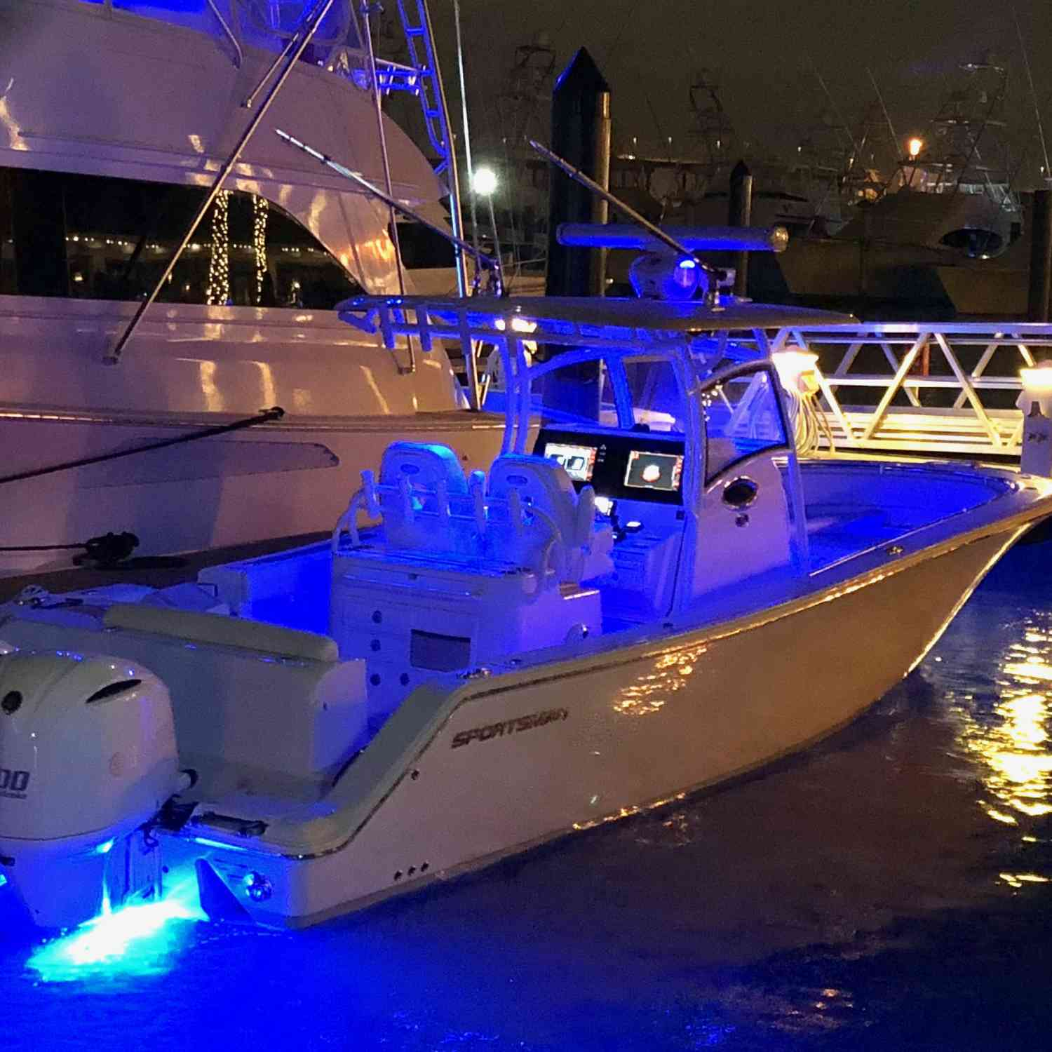 Title: best looking boat at night - On board their Sportsman Open 312 Center Console - Location: Reviera Beach, FL. Participating in the Photo Contest #SportsmanSeptember2018