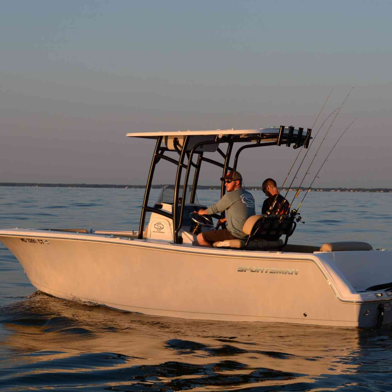 Title: In The Sunset - On board their Sportsman Open 232 Center Console - Location: Chesapeake bay, Maryland. Participating in the Photo Contest #SportsmanSeptember2018