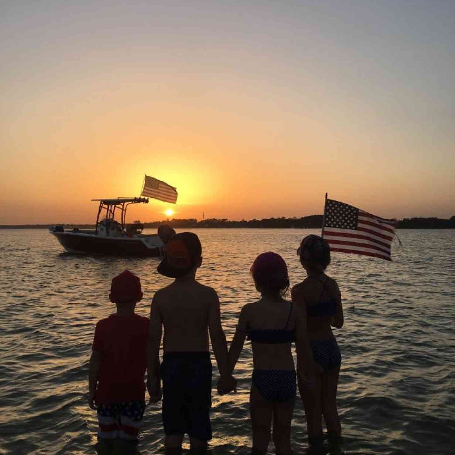 Title: Independence Day - On board their Sportsman Heritage 211 Center Console - Location: Santa Rosa Island, FL. Participating in the Photo Contest #SportsmanSeptember2018