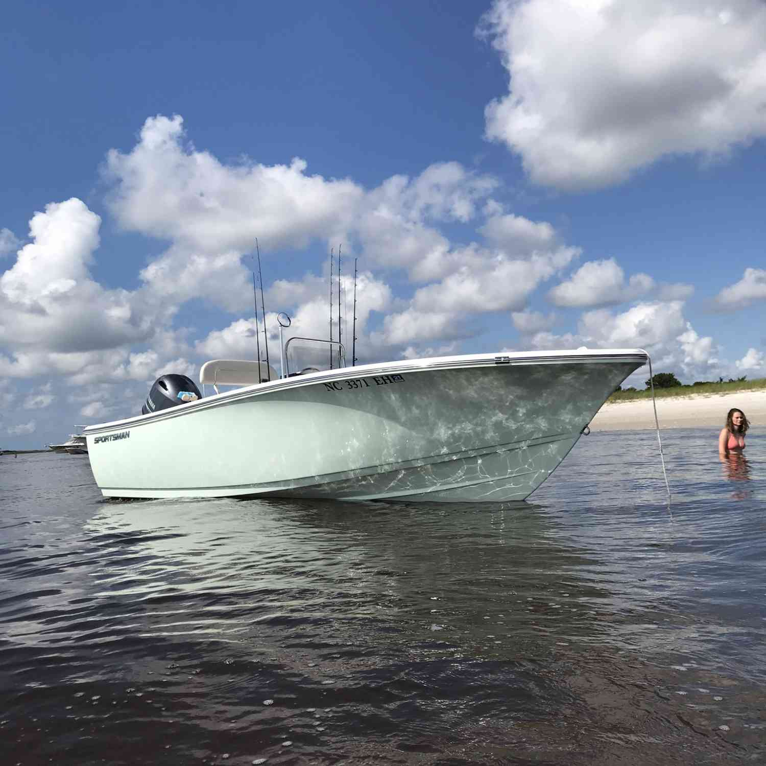 Title: Beach day - On board their Sportsman Island Reef 19 Center Console - Location: Wrightsville Beach, NC. Participating in the Photo Contest #SportsmanSeptember2018