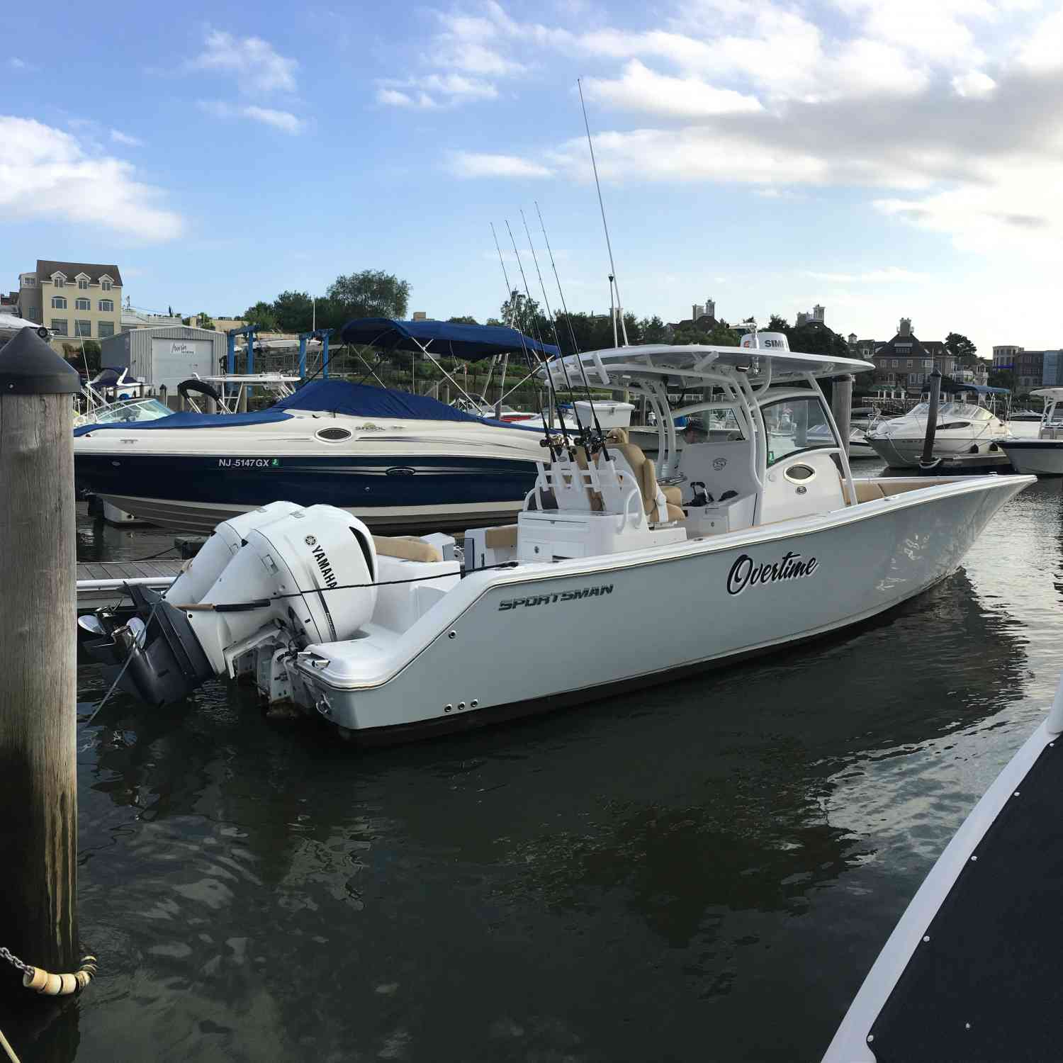 Title: Overtime - On board their Sportsman Open 312 Center Console - Location: Red Bank, NJ. Participating in the Photo Contest #SportsmanSeptember2018