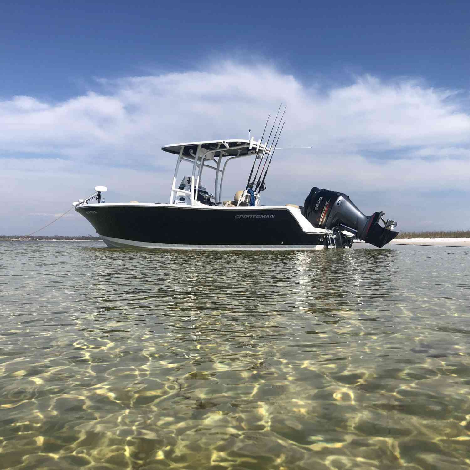 Title: Back to paradise - On board their Sportsman Open 232 Center Console - Location: Shell Island Panama City, FL. Participating in the Photo Contest #SportsmanApril2019