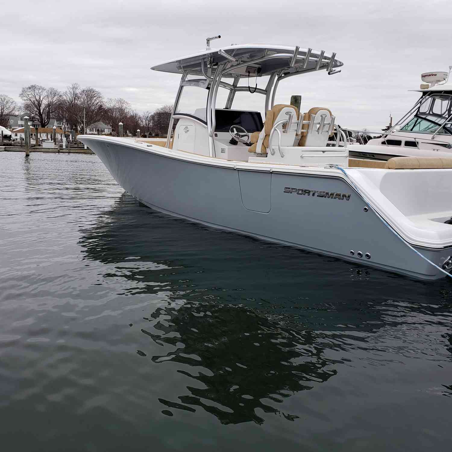 Title: At the dock - On board their Sportsman Open 312 Center Console - Location: Niantic ct. Participating in the Photo Contest #SportsmanApril2019