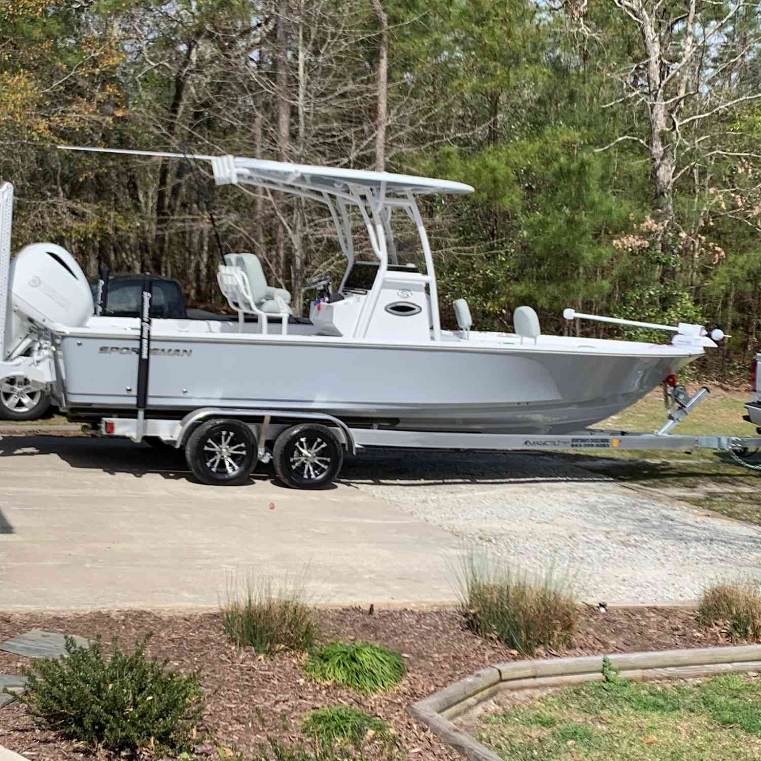 Title: Brand new - On board their Sportsman Masters 247 Bay Boat - Location: Ocean isle beach nc. Participating in the Photo Contest #SportsmanApril2019