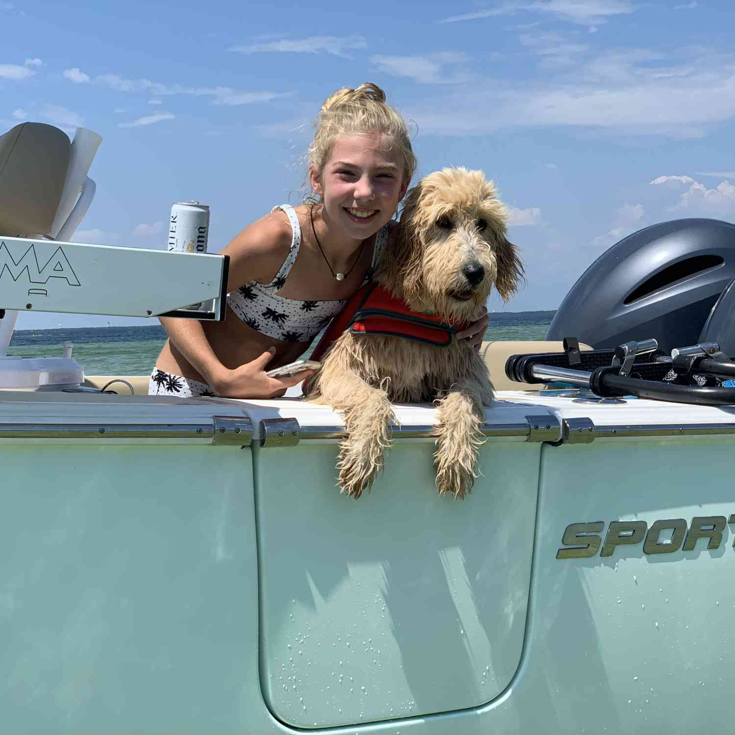Title: My Girls - On board their Sportsman Heritage 251 Center Console - Location: Destin Florida. Participating in the Photo Contest #SportsmanAugust2019