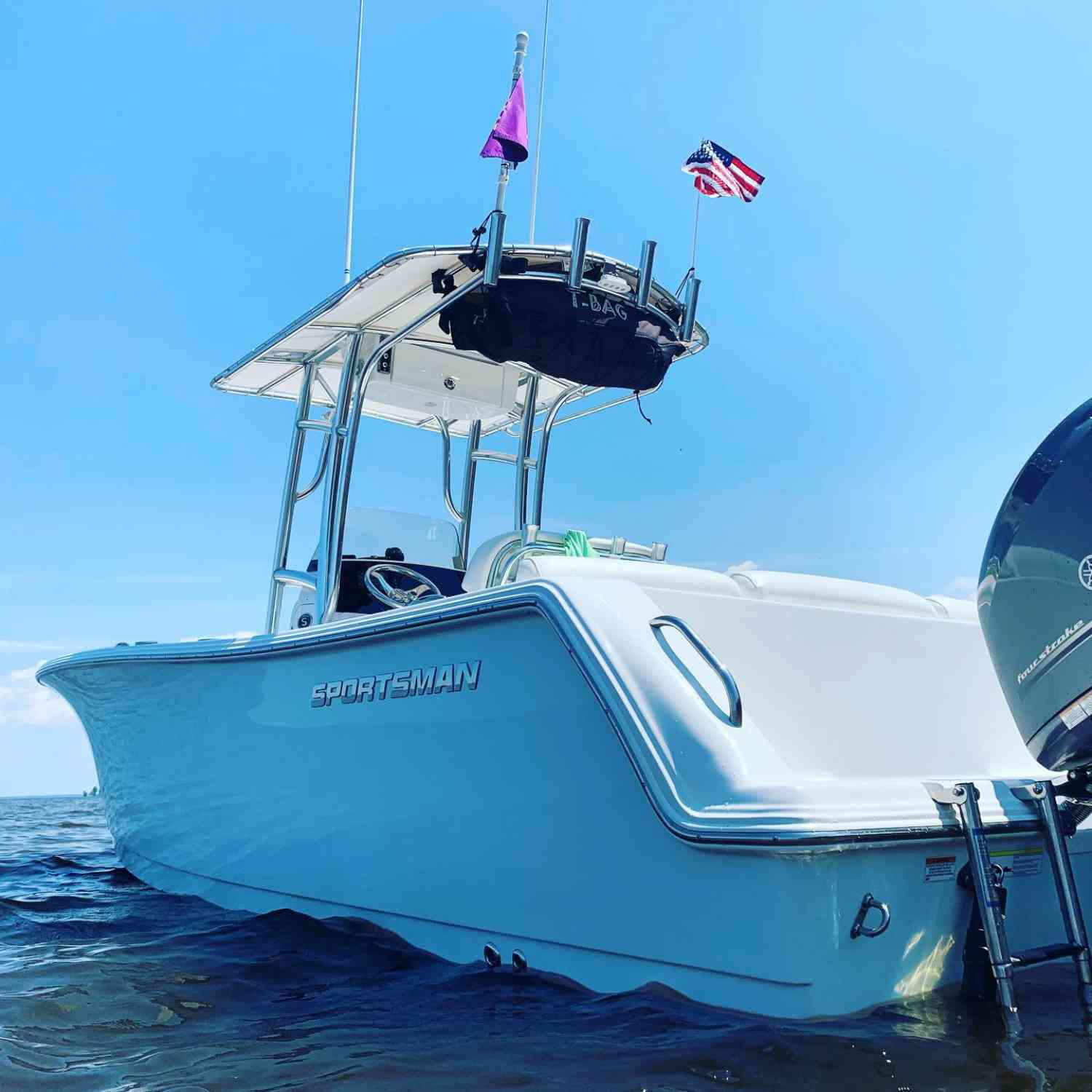 Title: Sunday funday - On board their Sportsman Heritage 231 Center Console - Location: Albemarle Sound, NC. Participating in the Photo Contest #SportsmanAugust2019