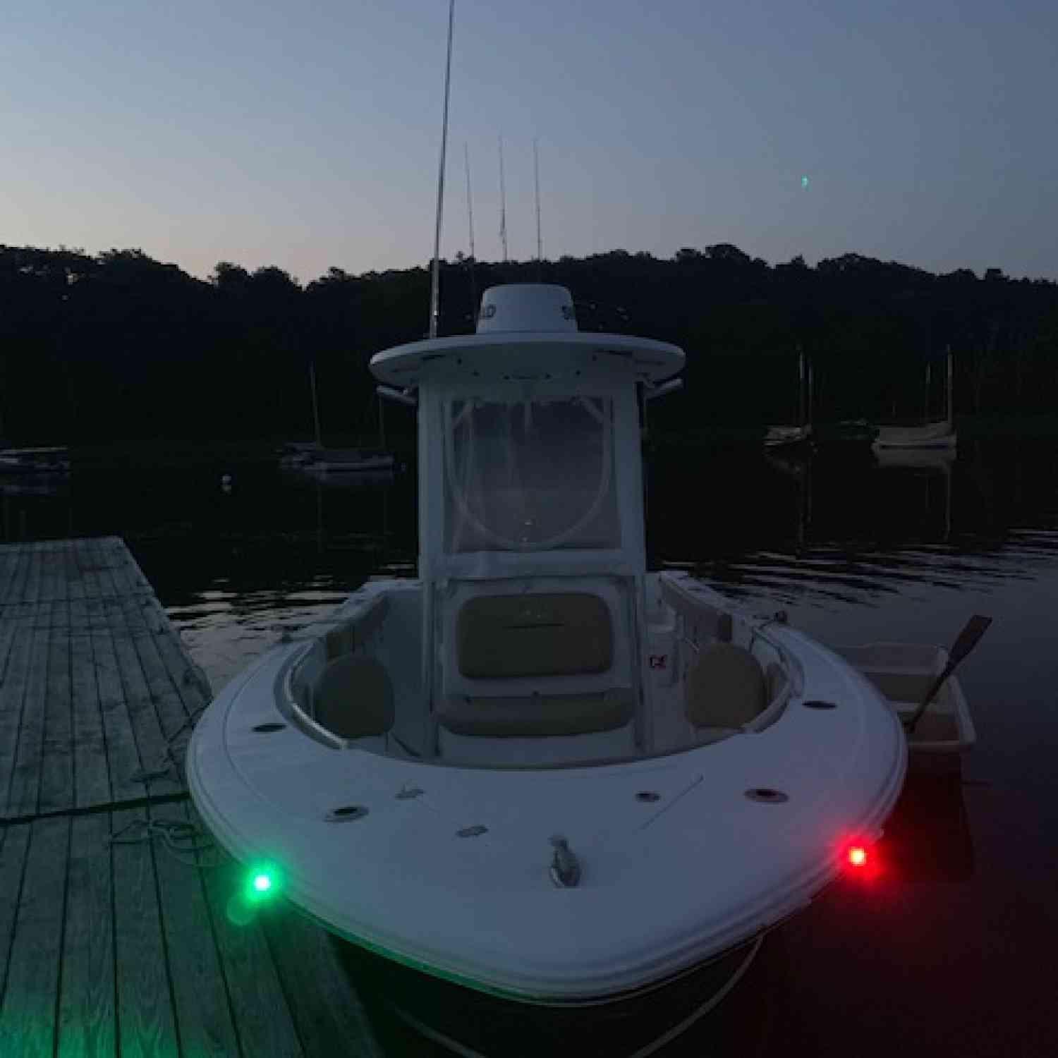 Title: early monomoy shoals striped bass - On board their Sportsman Open 232 Center Console - Location: Orleans, MA. Participating in the Photo Contest #SportsmanAugust2019