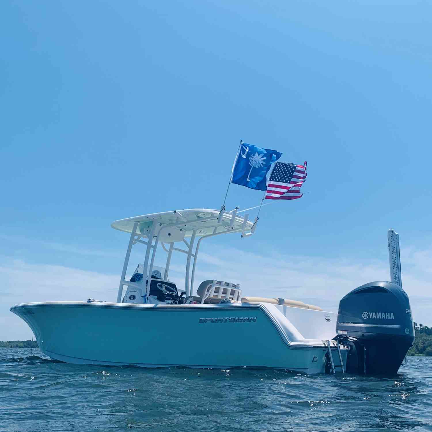 Title: Thankful for God's Many Blessings - On board their Sportsman Heritage 231 Center Console - Location: Manning, SC. Participating in the Photo Contest #SportsmanAugust2019