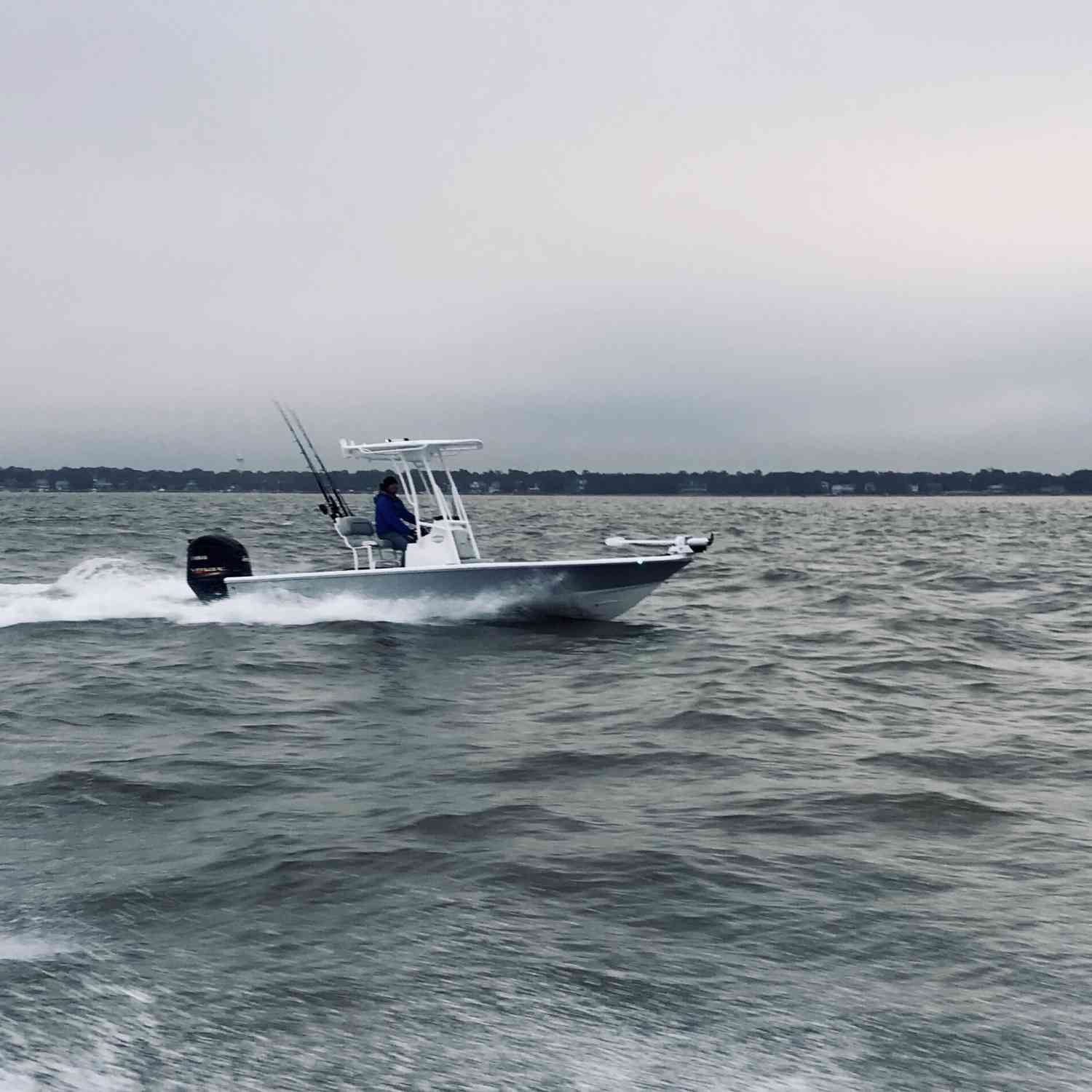 Title: 2019 Sportsman 214 Tournament - On board their Sportsman Tournament 214 Bay Boat - Location: Charleston, SC. Participating in the Photo Contest #SportsmanFebruary2019