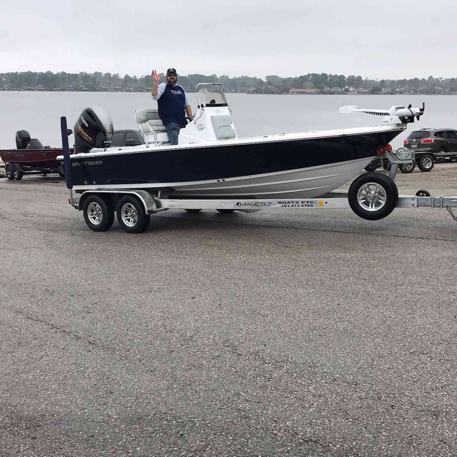 Title: Madden Voyage!! Love this boat - On board their Sportsman Masters 207 Bay Boat - Location: Lake Conroe. Participating in the Photo Contest #SportsmanFebruary2019