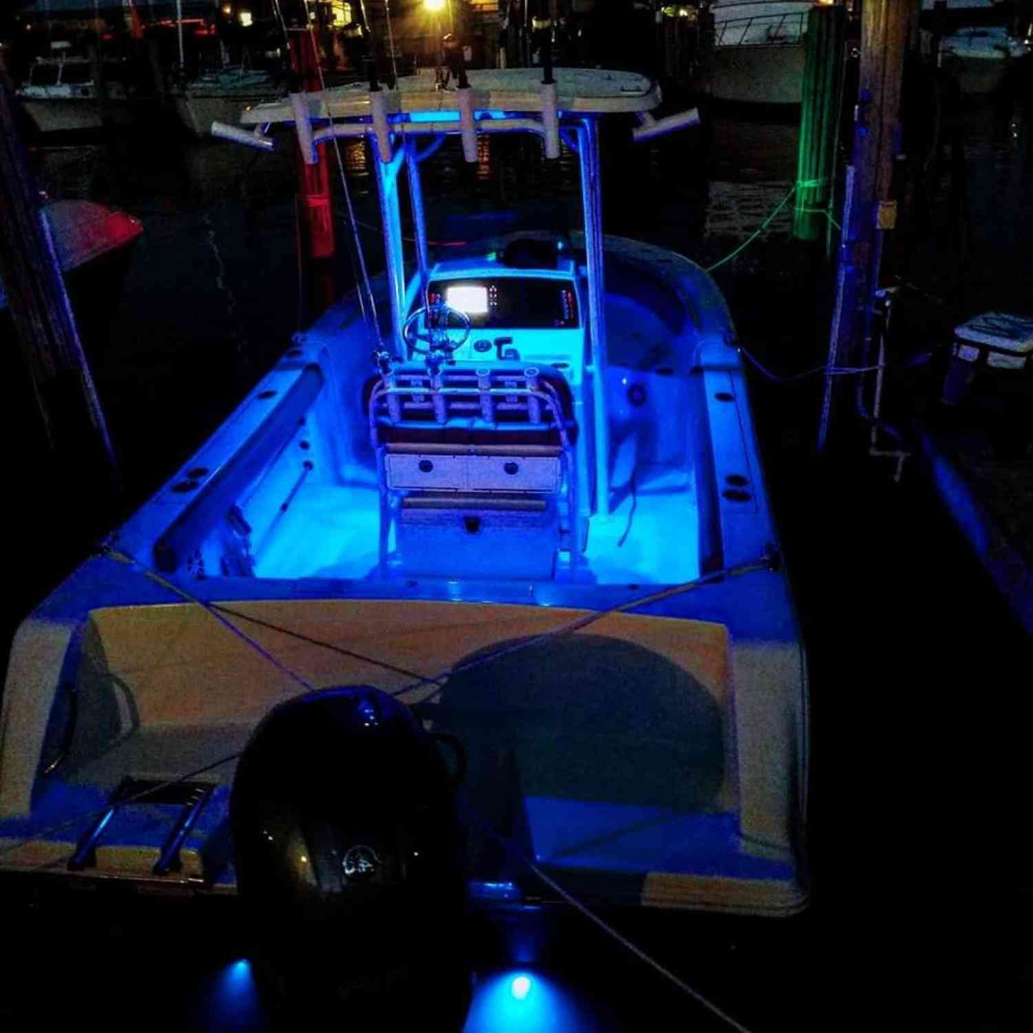 Title: First pic w/ lights - On board their Sportsman Heritage 231 Center Console - Location: Grasonville, MD. Participating in the Photo Contest #SportsmanFebruary2019