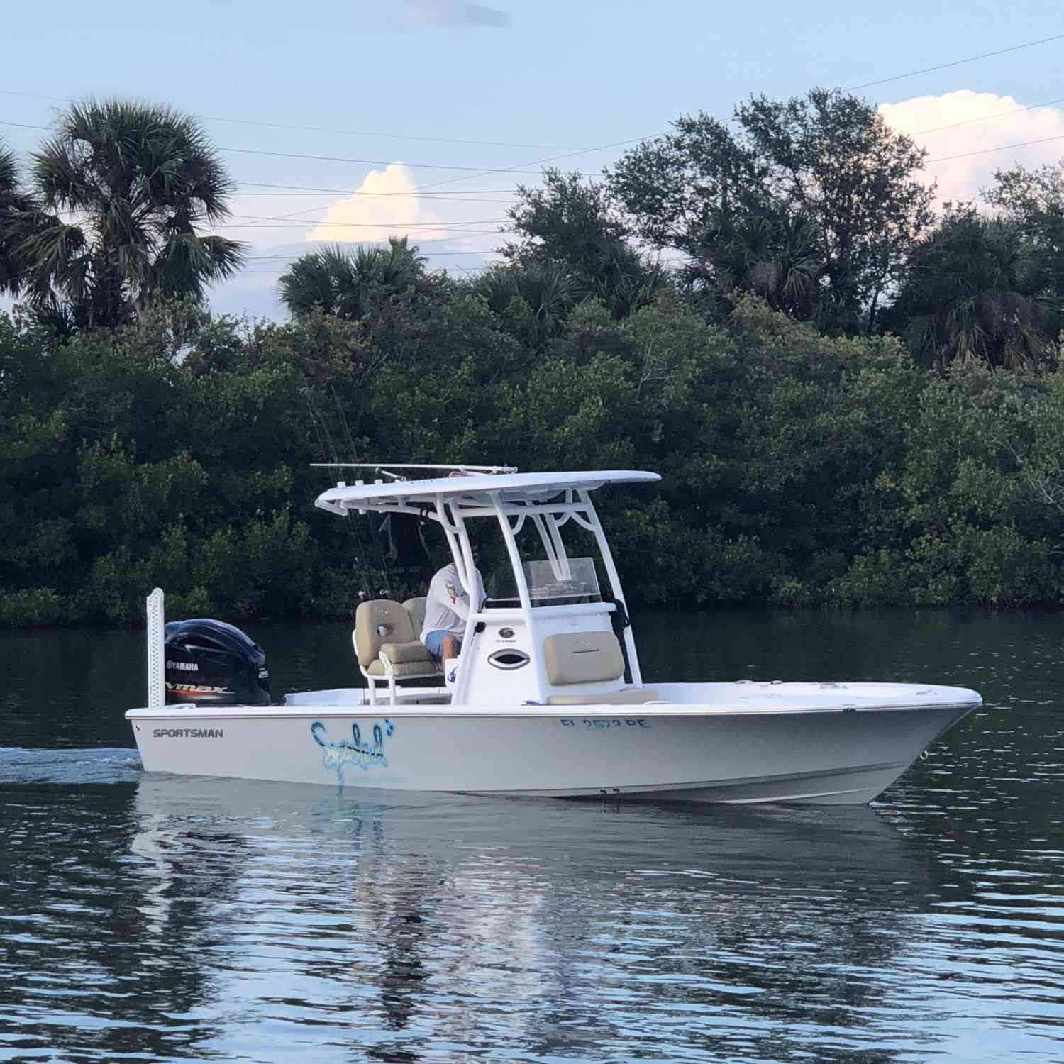 Title: Spooled - On board their Sportsman Open 282 Center Console - Location: New Smyrna Beach,FL. Participating in the Photo Contest #SportsmanFebruary2019
