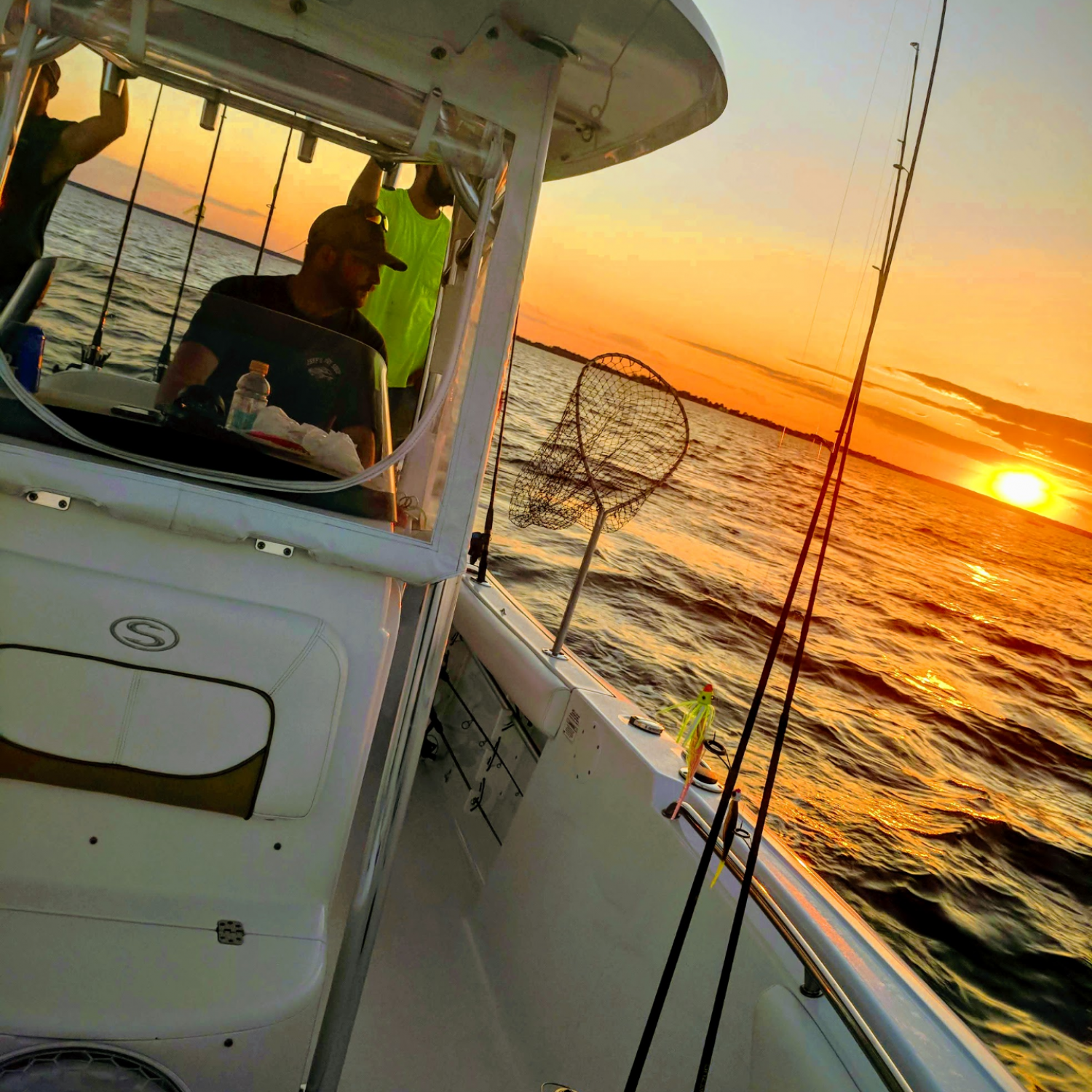 Title: Sunset on Eastern bay! - On board their Sportsman Open 232 Center Console - Location: Stevensville md. Participating in the Photo Contest #SportsmanFebruary2019