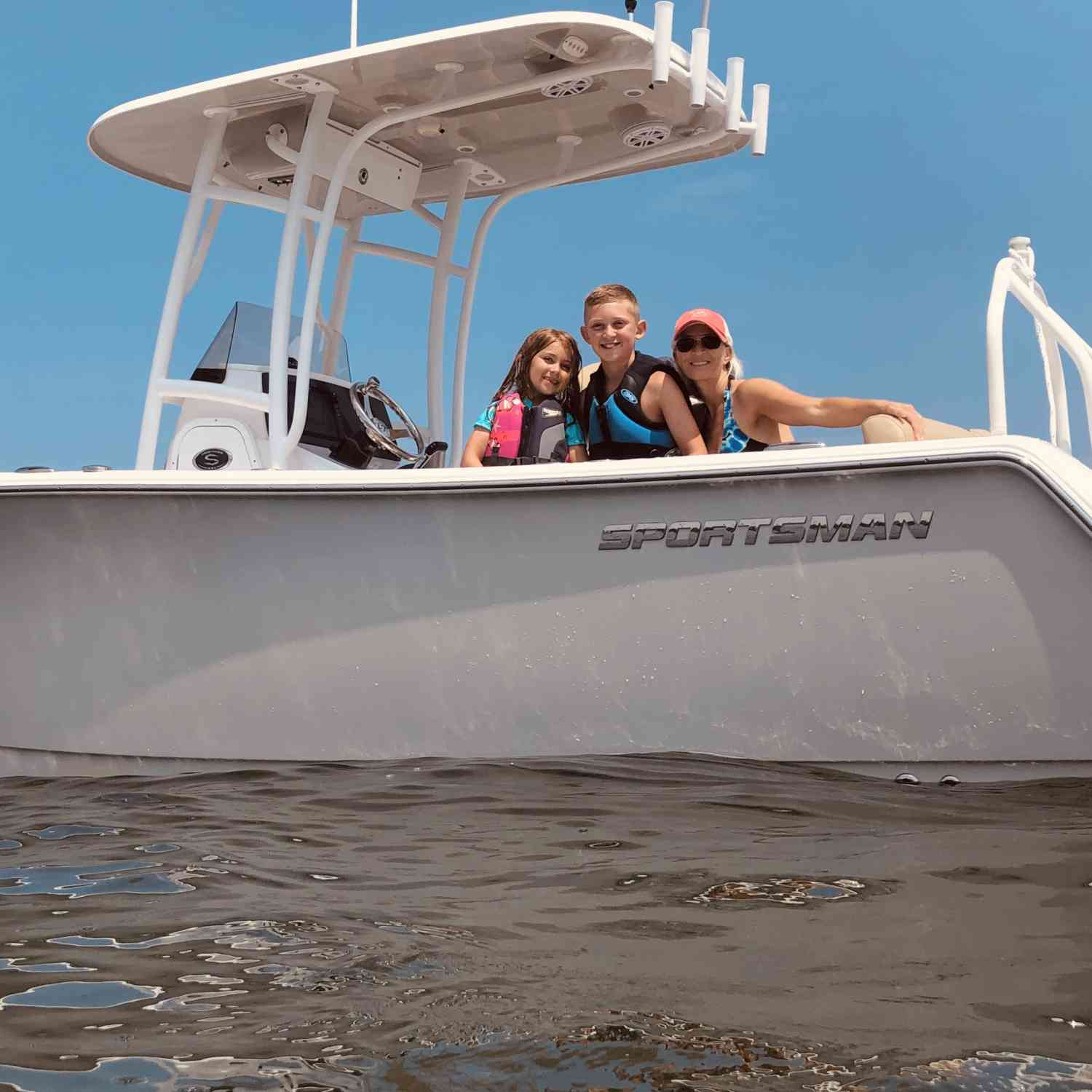 Title: Family approved - On board their Sportsman Heritage 231 Center Console - Location: Lake Erie, Ohio. Participating in the Photo Contest #SportsmanJuly2019