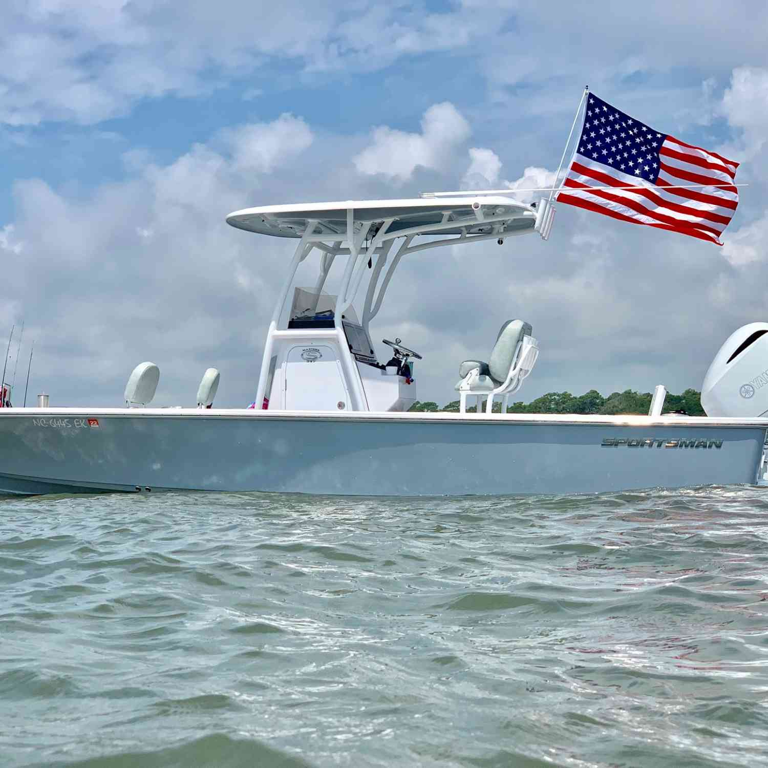 Title: 4th of July blowout - On board their Sportsman Masters 247 Bay Boat - Location: Ocean isle beach North Carolina. Participating in the Photo Contest #SportsmanJuly2019
