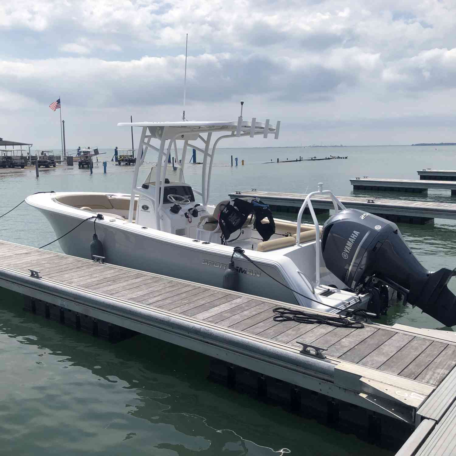 Title: First island hop - On board their Sportsman Heritage 231 Center Console - Location: Kelley's island Lake Erie. Participating in the Photo Contest #SportsmanJuly2019