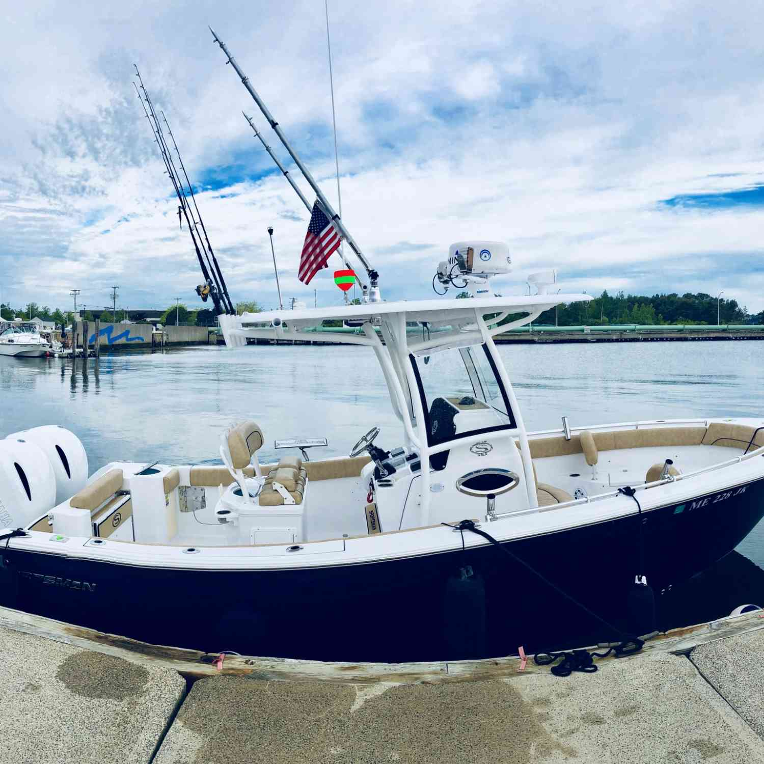 Title: Starboard side wide angle view - On board their Sportsman Open 252 Center Console - Location: Portland MAINE. Participating in the Photo Contest #SportsmanJuly2019