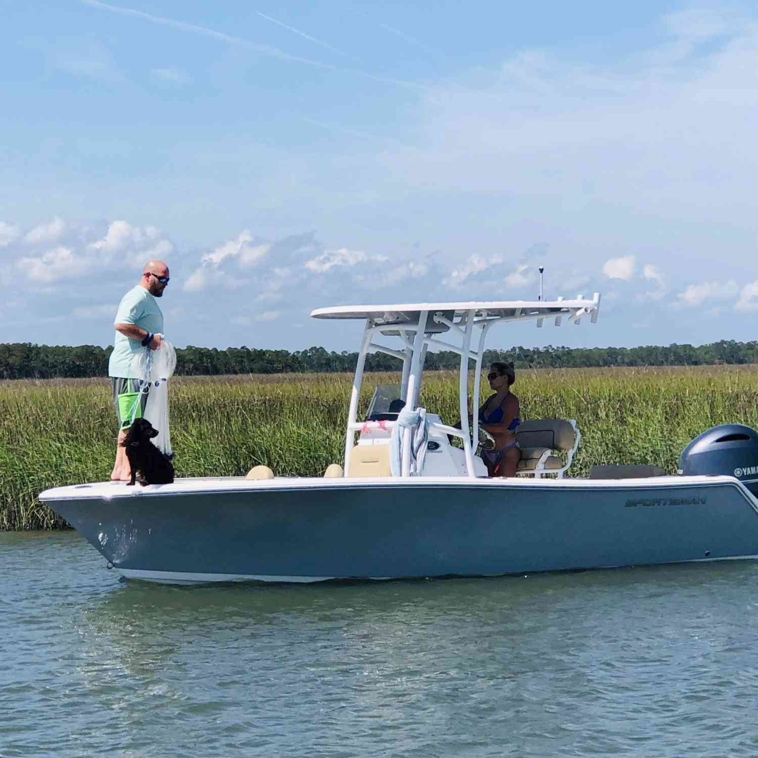 Title: Teamwork - On board their Sportsman Open 212 Center Console - Location: Charleston, SC. Participating in the Photo Contest #SportsmanJuly2019