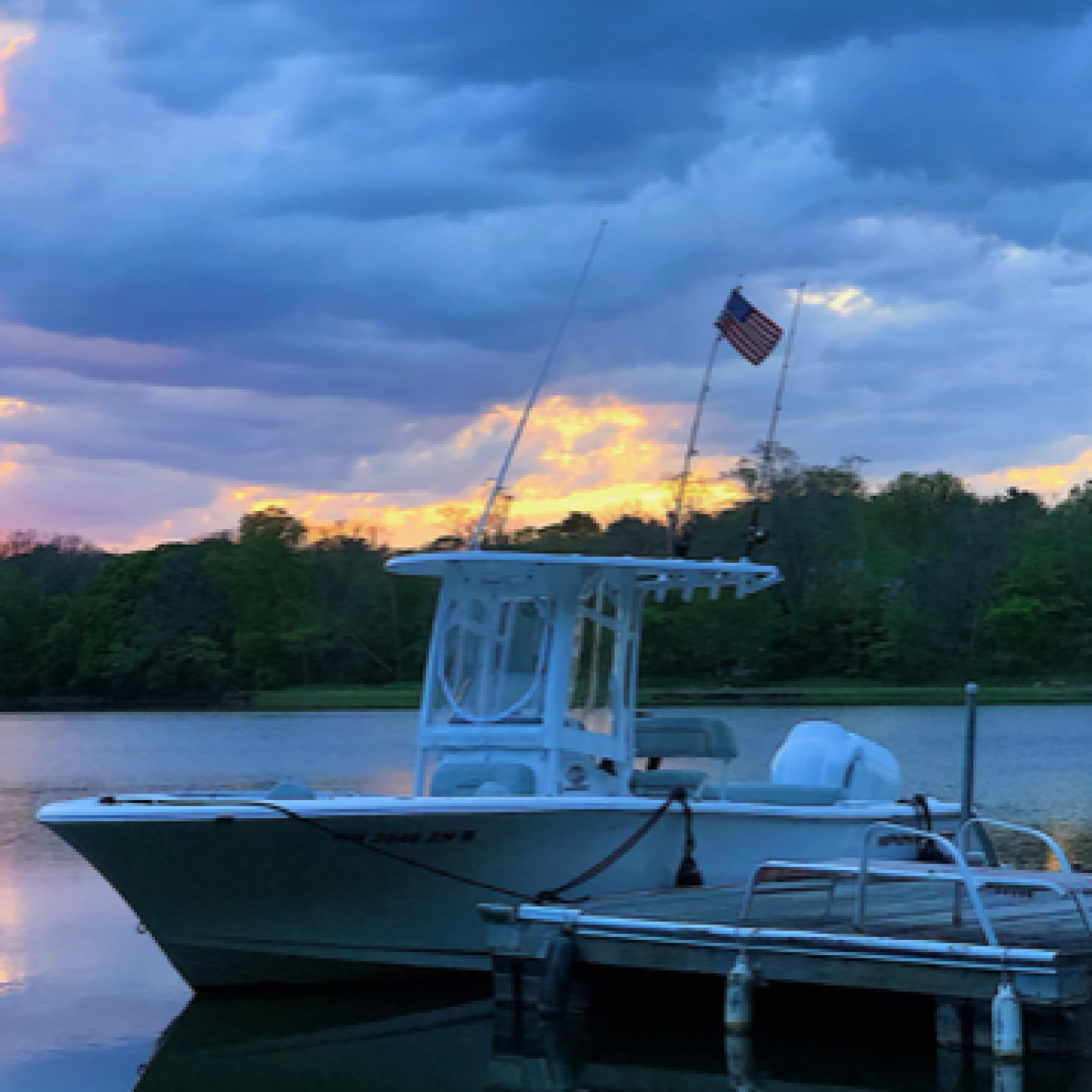 Title: Sunset back at the dock. - On board their Sportsman Open 232 Center Console - Location: Gloucester MA. Participating in the Photo Contest #SportsmanJuly2019