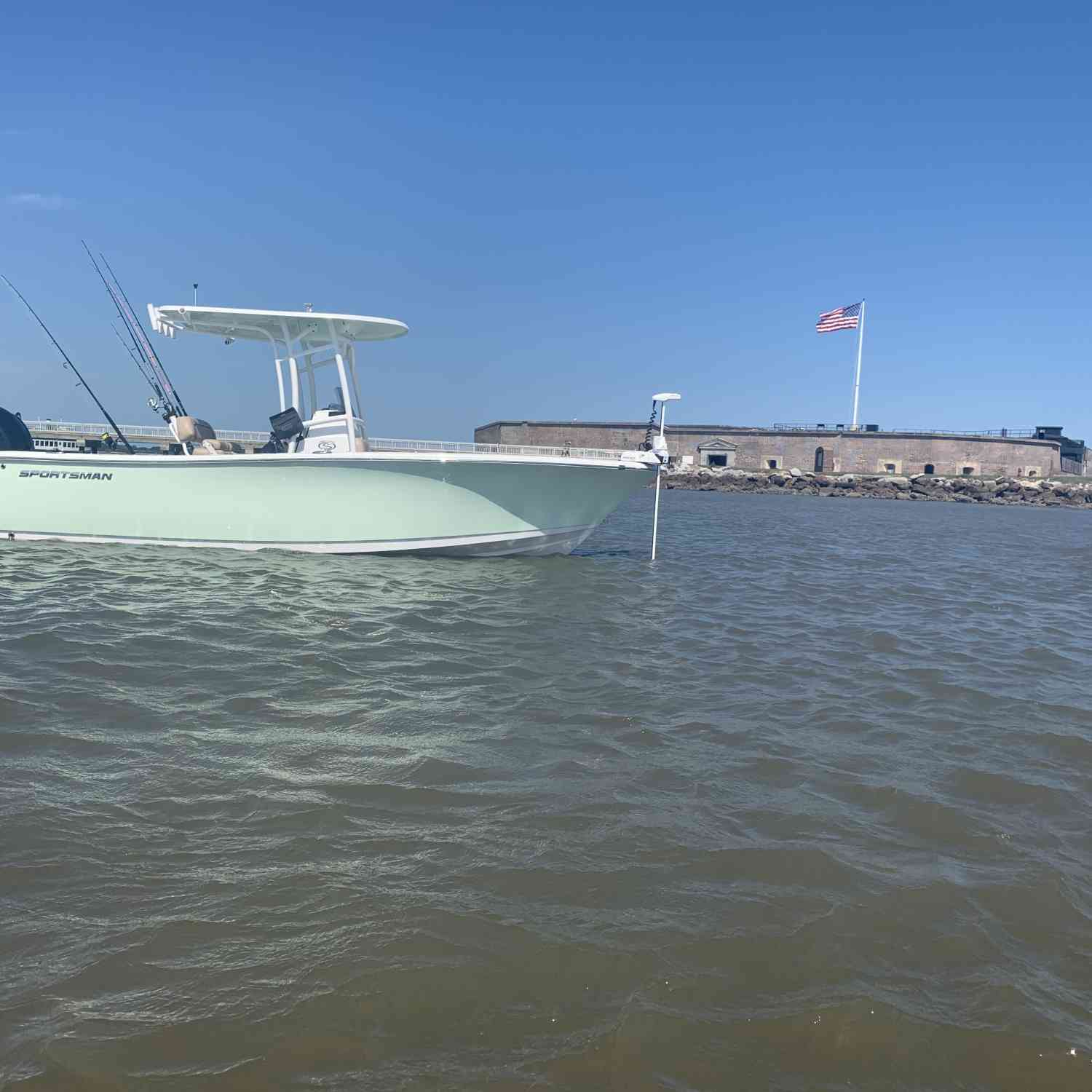 Title: Ft. Sumter - On board their Sportsman Heritage 231 Center Console - Location: Charleston,SC. Participating in the Photo Contest #SportsmanJuly2019