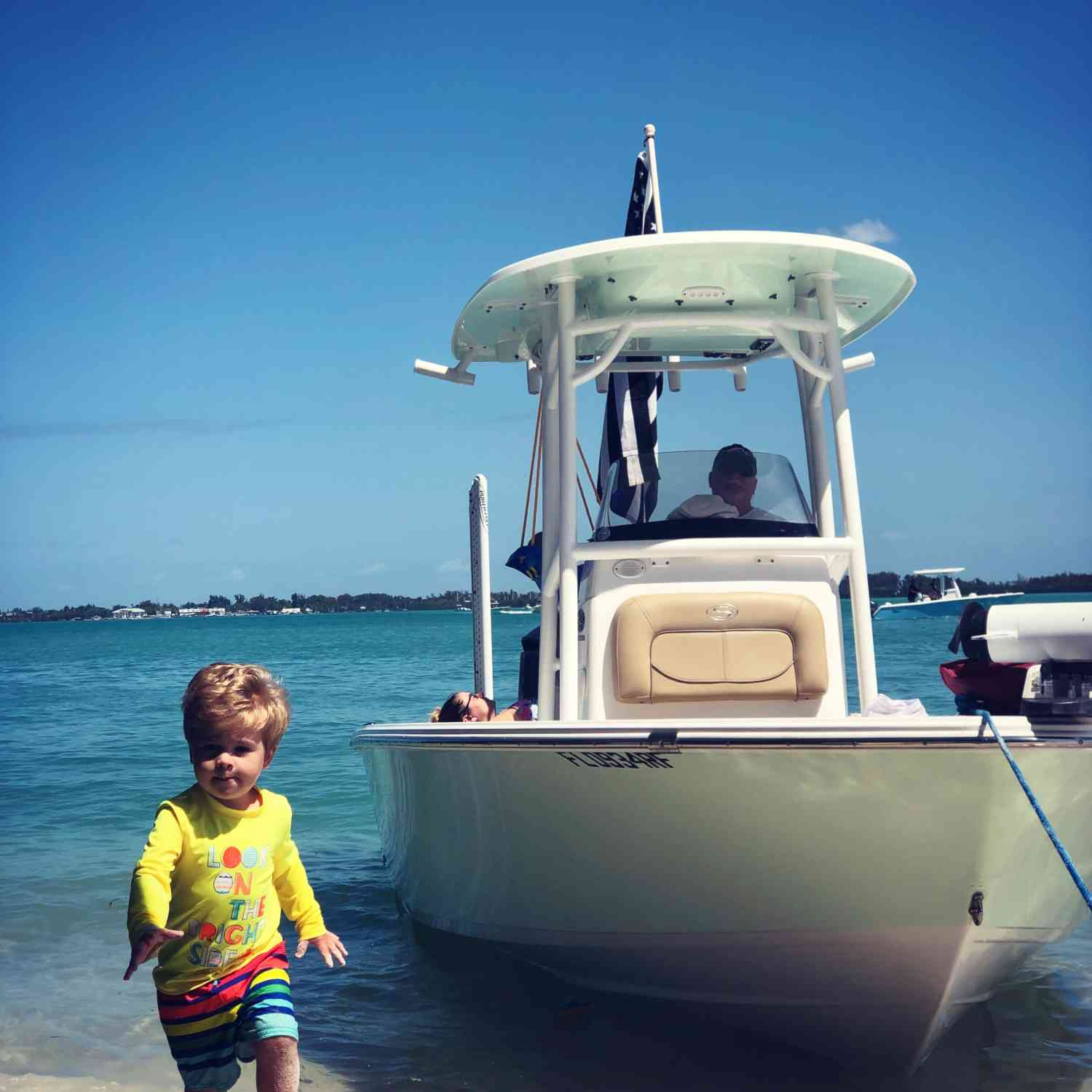Title: Outdoor fun - On board their Sportsman Masters 247 Bay Boat - Location: Anna Maria Island, FL.. Participating in the Photo Contest #SportsmanJune2019