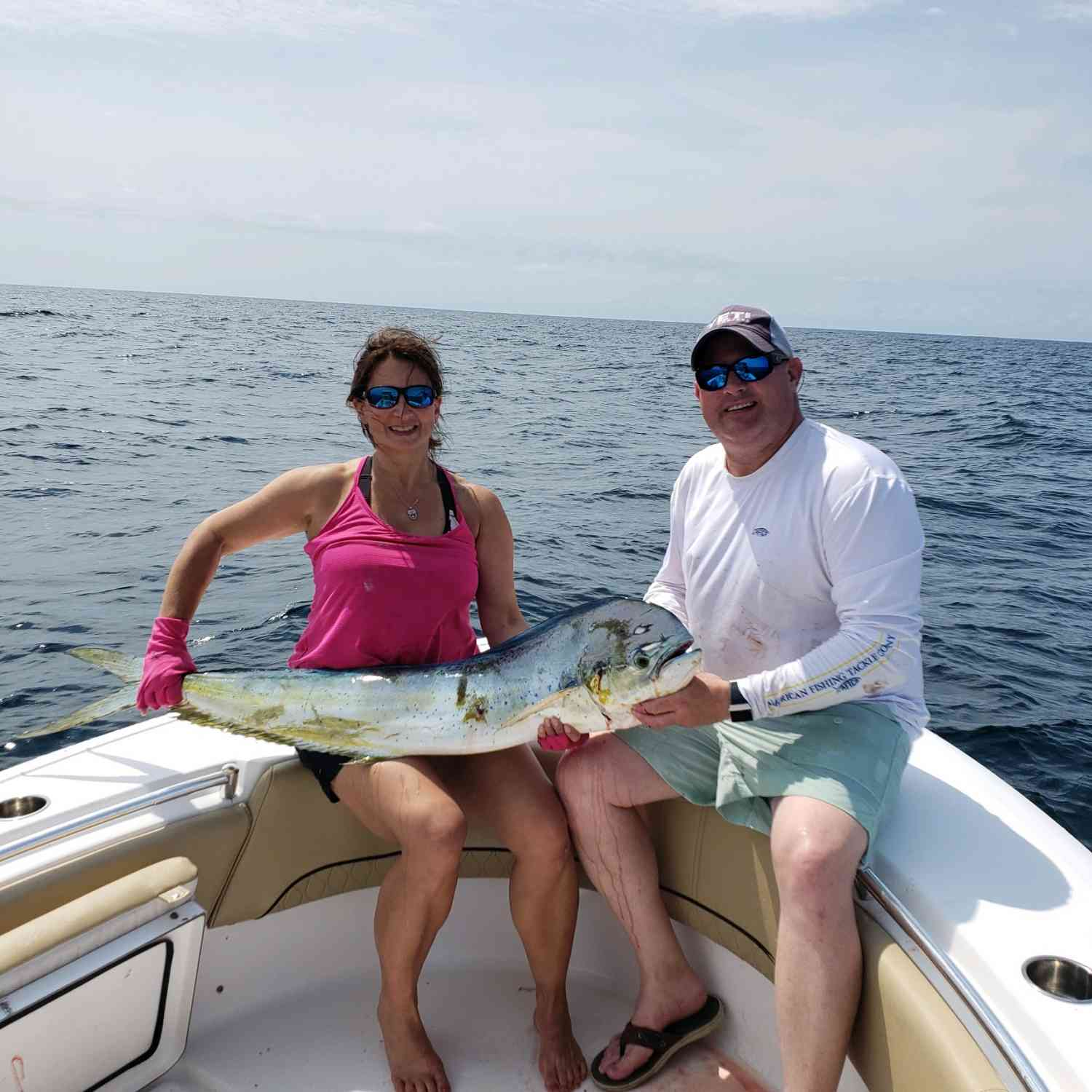 Title: Mother's Day Mahi-Mahi - On board their Sportsman Heritage 231 Center Console - Location: Charleston, SC. Participating in the Photo Contest #SportsmanJune2019