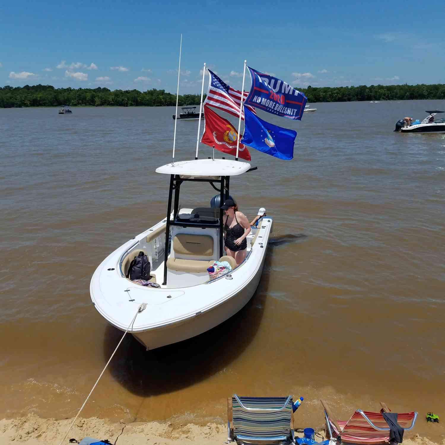 Title: Proud American - On board their Sportsman Open 232 Center Console - Location: Mobile Al. Participating in the Photo Contest #SportsmanJune2019