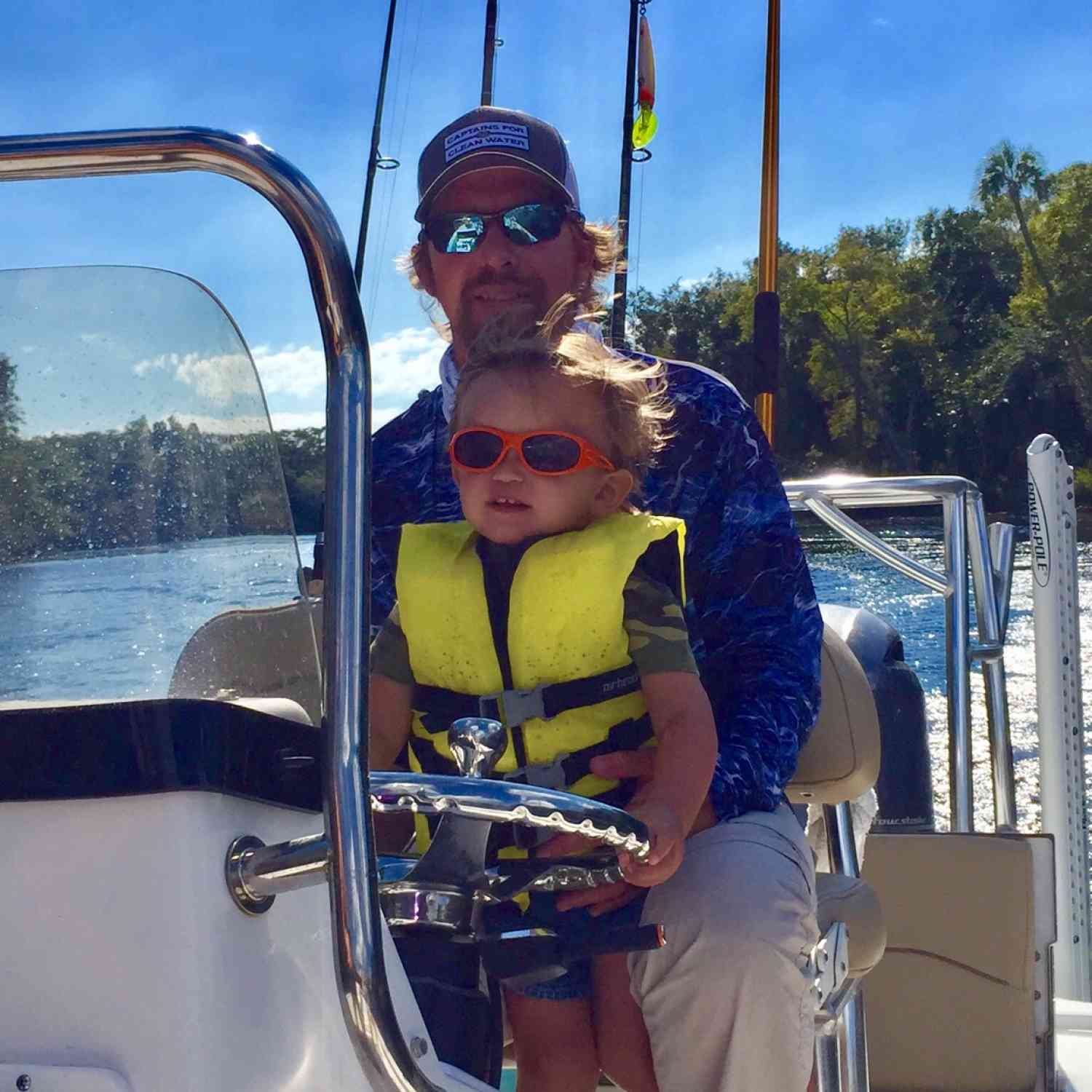 Title: The future - On board their Sportsman Tournament 214 Bay Boat - Location: Yankeetown, Fl. Participating in the Photo Contest #SportsmanMarch2019