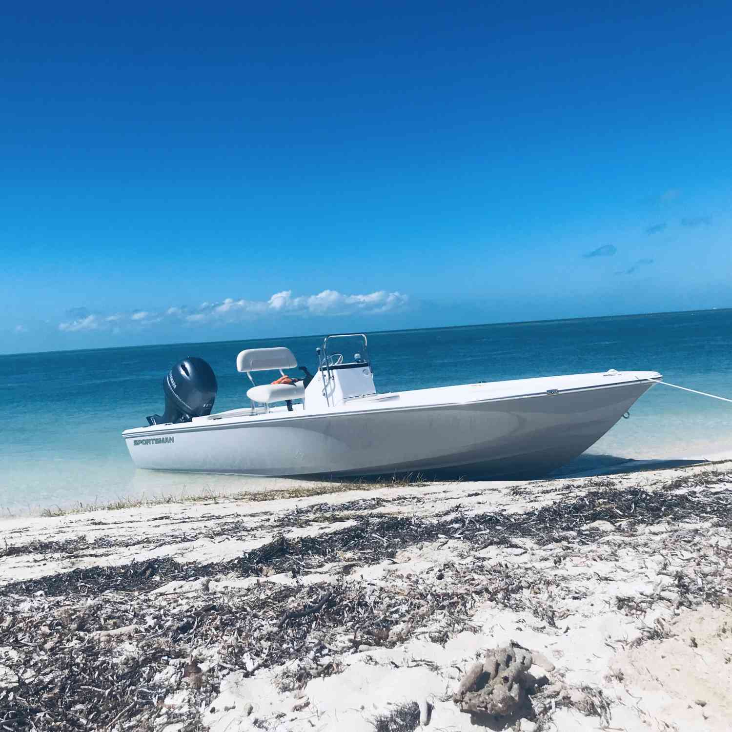 Title: First day out on the water - On board their Sportsman Island Bay 20 Bay Boat - Location: Key West Florida. Participating in the Photo Contest #SportsmanMarch2019