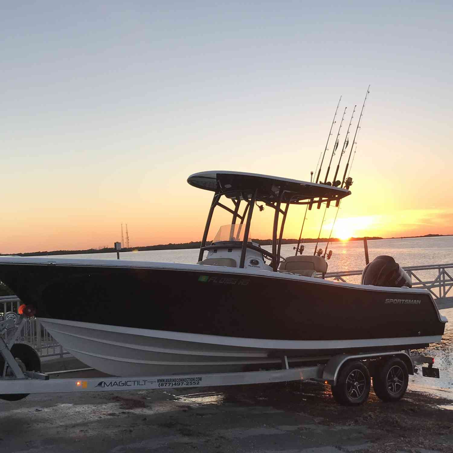 Title: After a hard days work!! - On board their Sportsman Open 232 Center Console - Location: Tampa FL.. Participating in the Photo Contest #SportsmanMarch2019