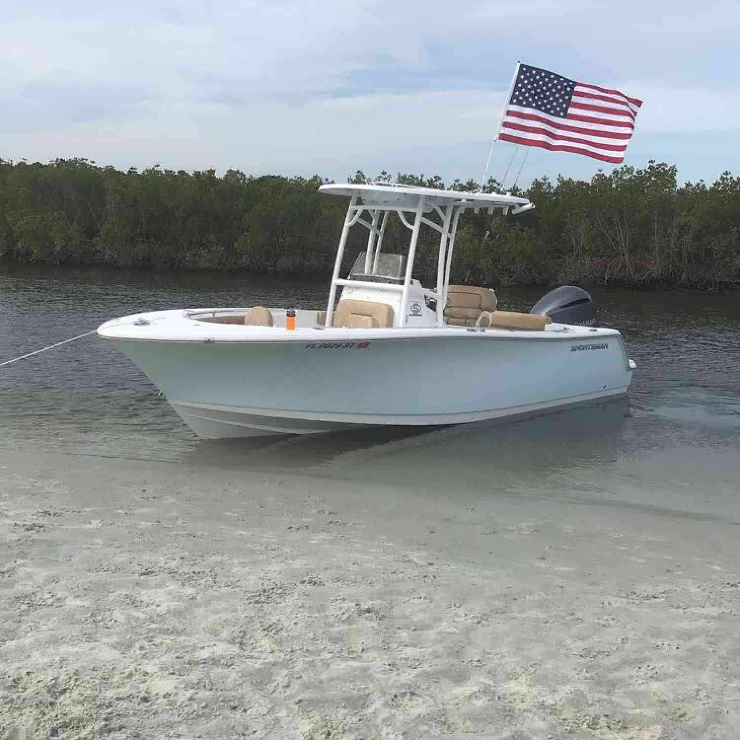 Title: Day at the sandbar - On board their Sportsman Open 232 Center Console - Location: Daytona beach Florida. Participating in the Photo Contest #SportsmanMay2019