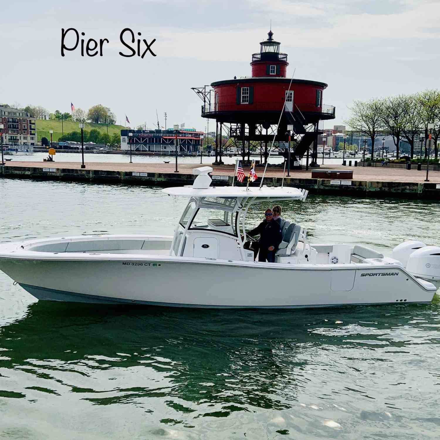 Title: Pier Six Inner Harbor - On board their Sportsman Open 312 Center Console - Location: Baltimore Maryland. Participating in the Photo Contest #SportsmanMay2019