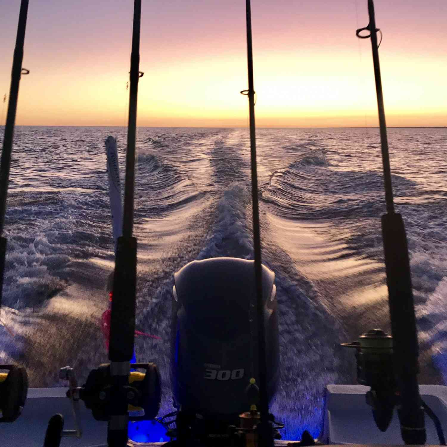 Title: Evening Bite - On board their Sportsman Masters 247 Bay Boat - Location: NC. Participating in the Photo Contest #SportsmanNovember2019