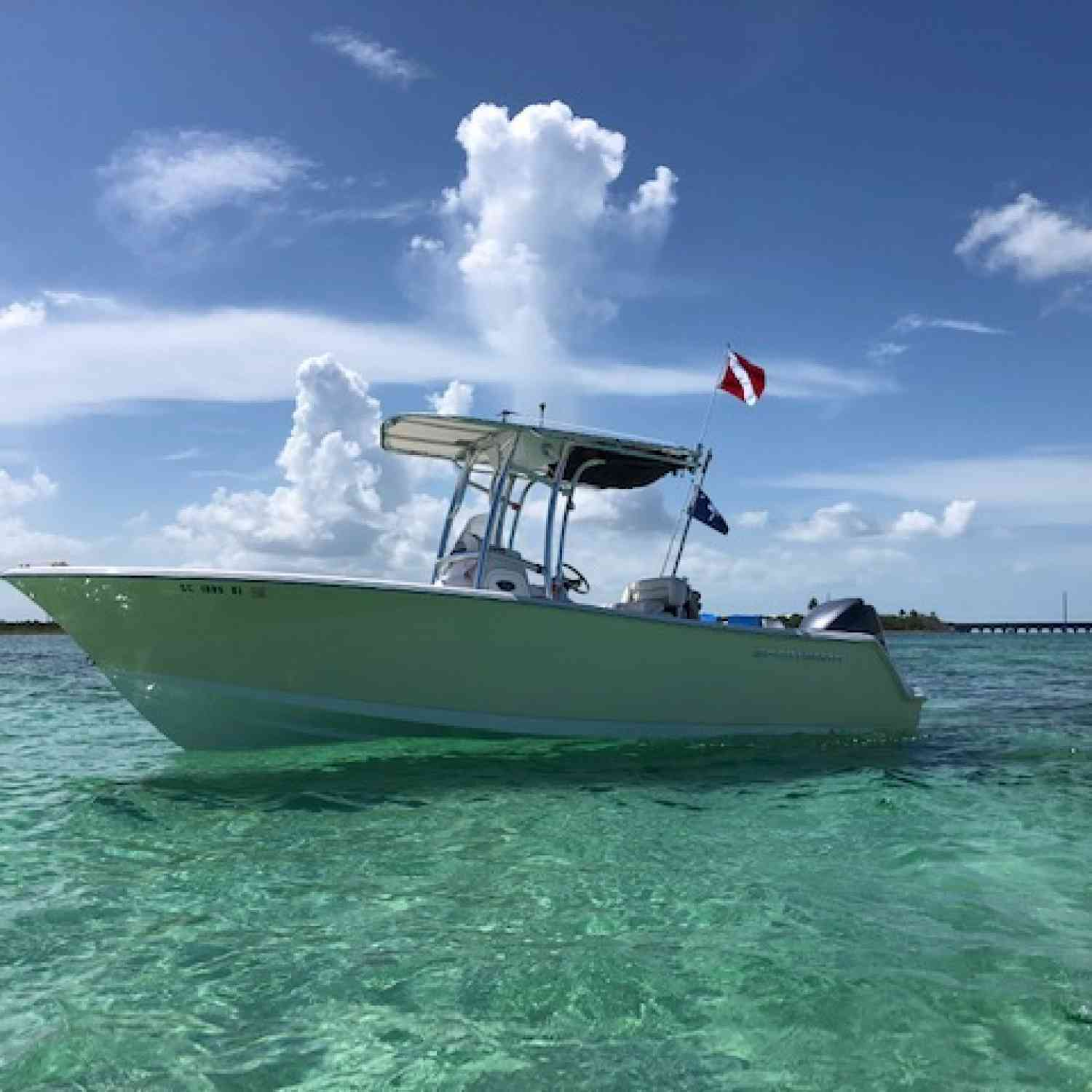 Title: Sportsman in the Keys - On board their Sportsman Heritage 231 Center Console - Location: Marathon, Florida. Participating in the Photo Contest #SportsmanNovember2019