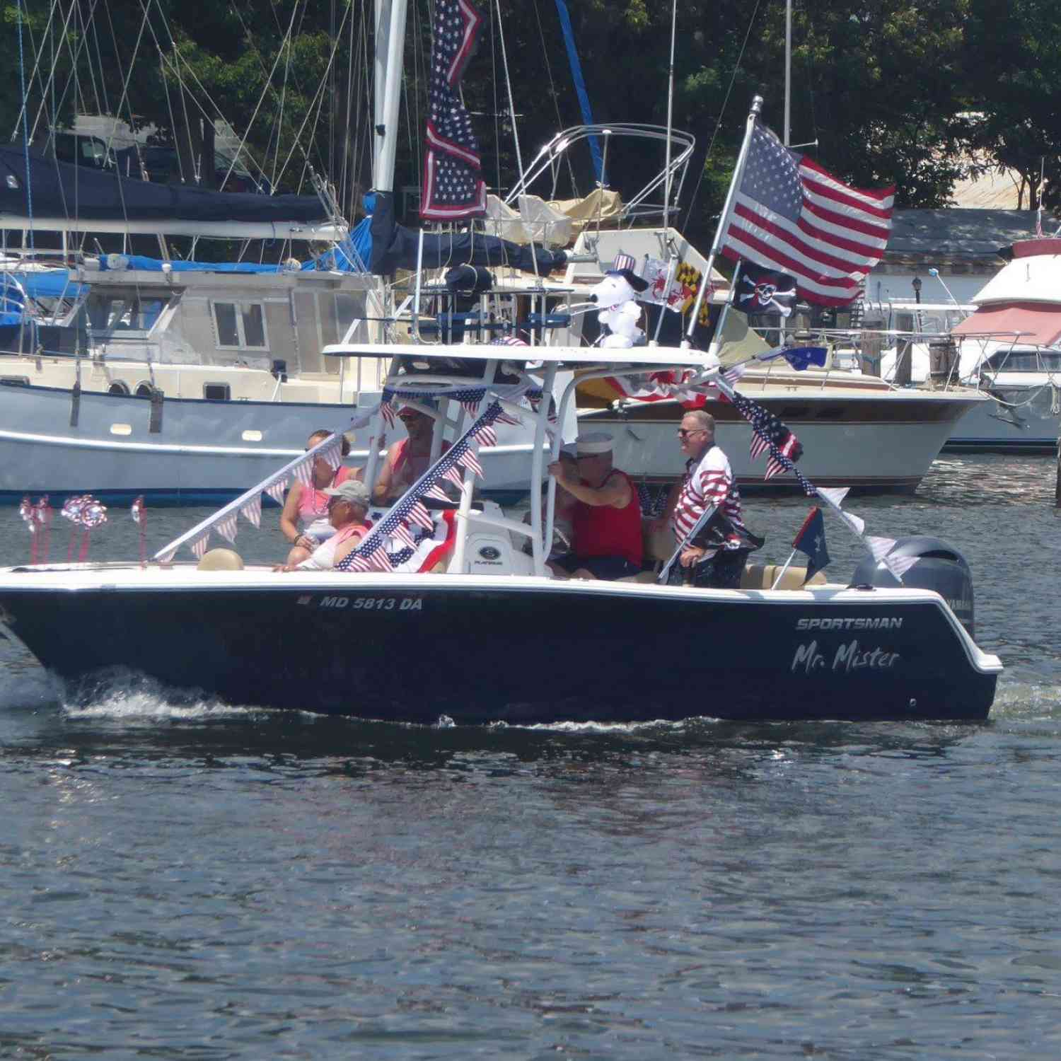 Title: Independence Day Parade - On board their Sportsman Open 232 Center Console - Location: Solomons, MD. Participating in the Photo Contest #SportsmanNovember2019