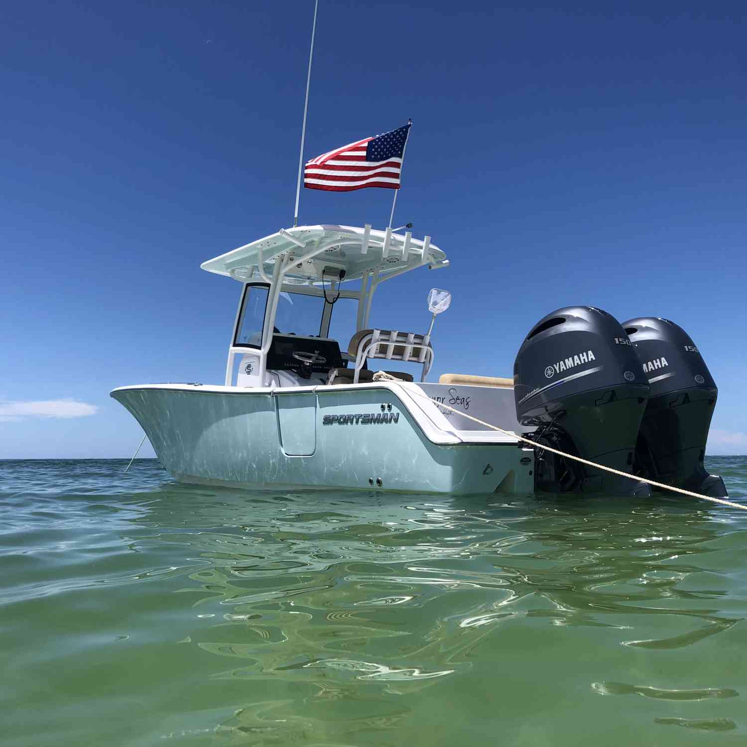 Title: Letting Freedom Ring! - On board their Sportsman Open 252 Center Console - Location: St. Petersburg, Florida. Participating in the Photo Contest #SportsmanSeptember2019