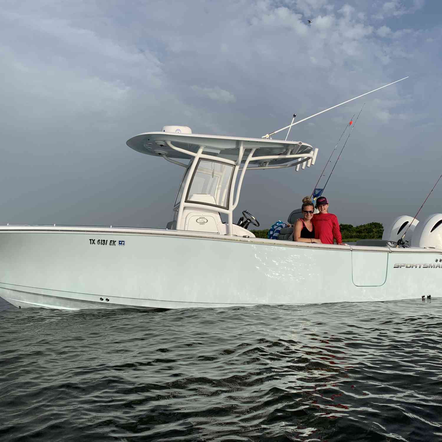 Title: Family fun in Galveston west Bay - On board their Sportsman Open 252 Center Console - Location: Galveston, tx. Participating in the Photo Contest #SportsmanSeptember2019