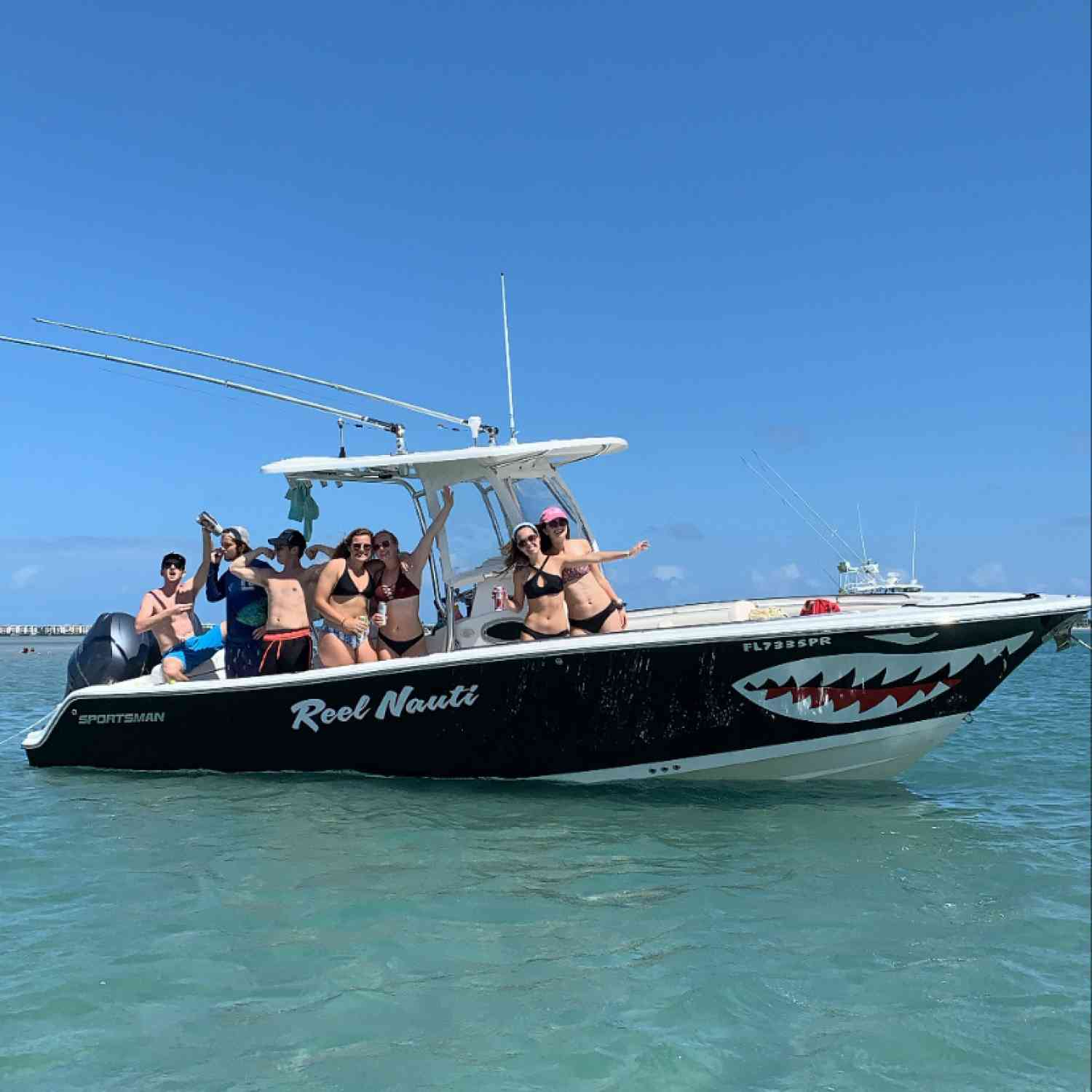 Title: Sandbar Sunday - On board their Sportsman Open 252 Center Console - Location: Stuart, FL. Participating in the Photo Contest #SportsmanApril2020