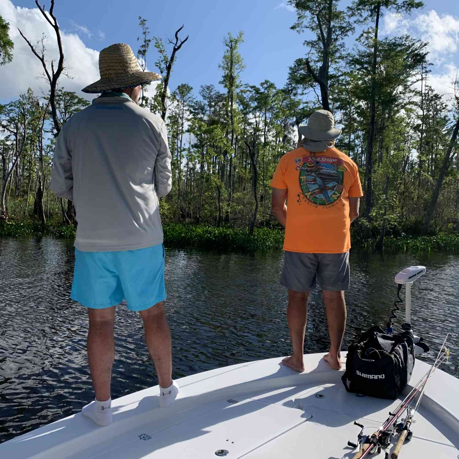 Title: Just another day of fishing but in a lake. - On board their Sportsman Masters 247 Bay Boat - Location: Lake between Port St Joe, FL & Apalachicola, FL. Participating in the Photo Contest #SportsmanApril2020