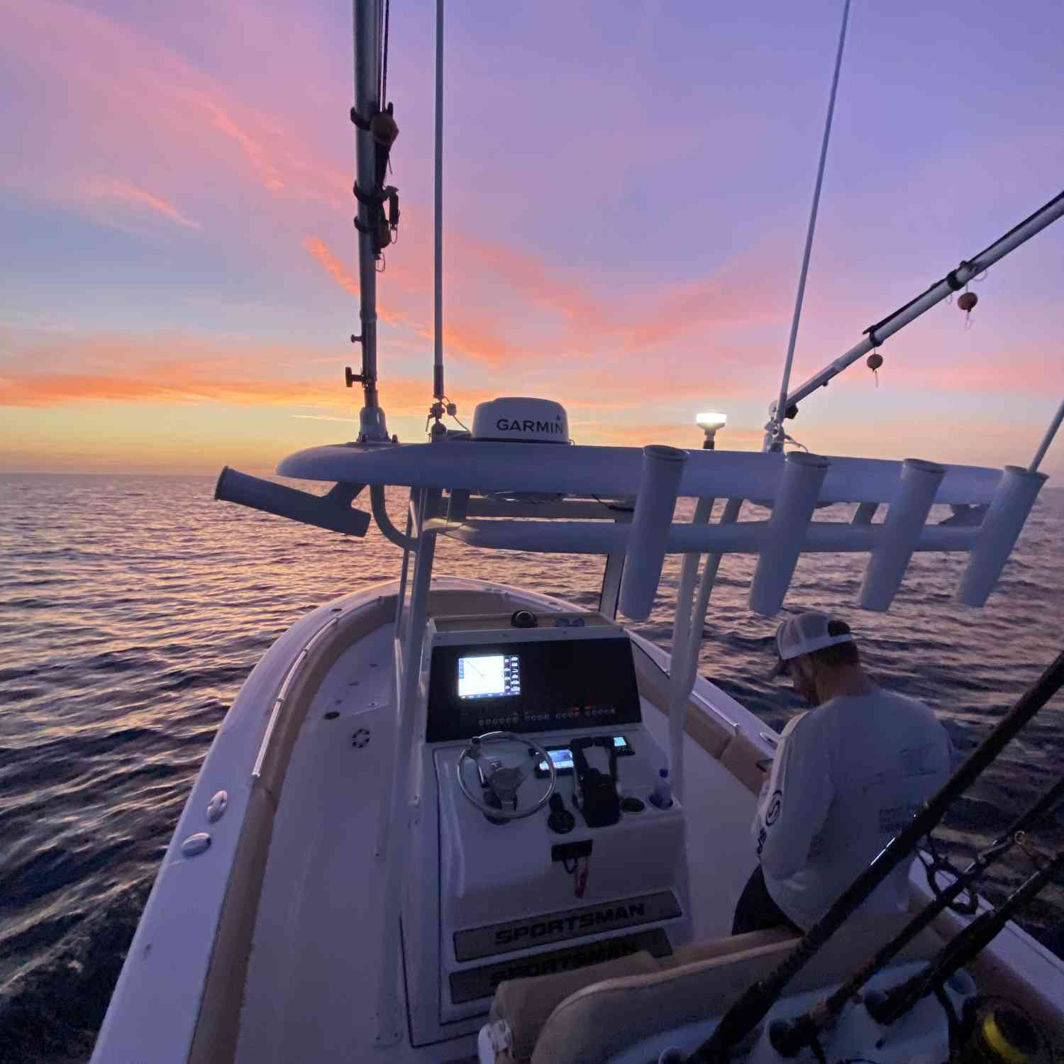 Title: Tournament Sunrise - On board their Sportsman Open 252 Center Console - Location: St.Petersburg, Fl. Participating in the Photo Contest #SportsmanApril2020