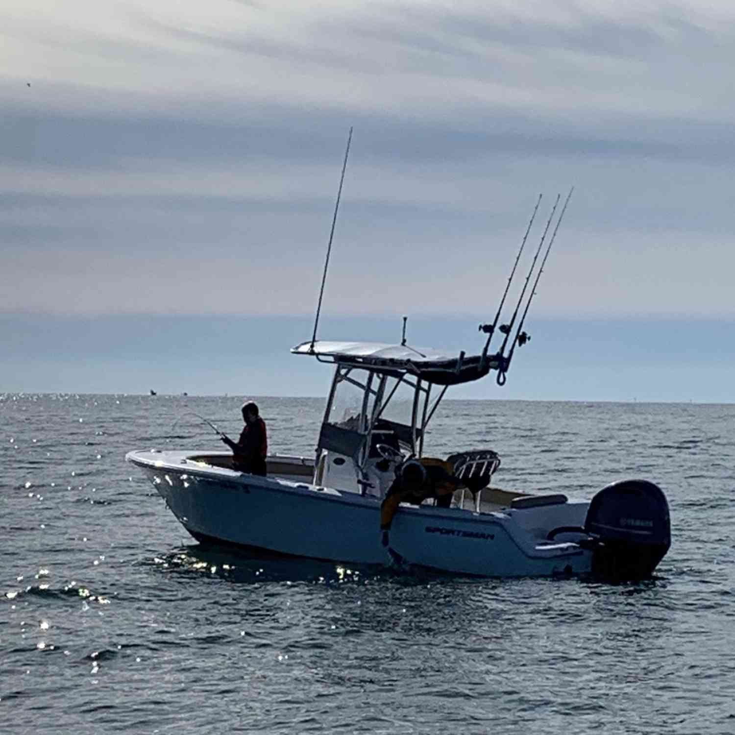 Title: Doubled up! - On board their Sportsman Open 212 Center Console - Location: Pointpleasant,NJ. Participating in the Photo Contest #SportsmanApril2020