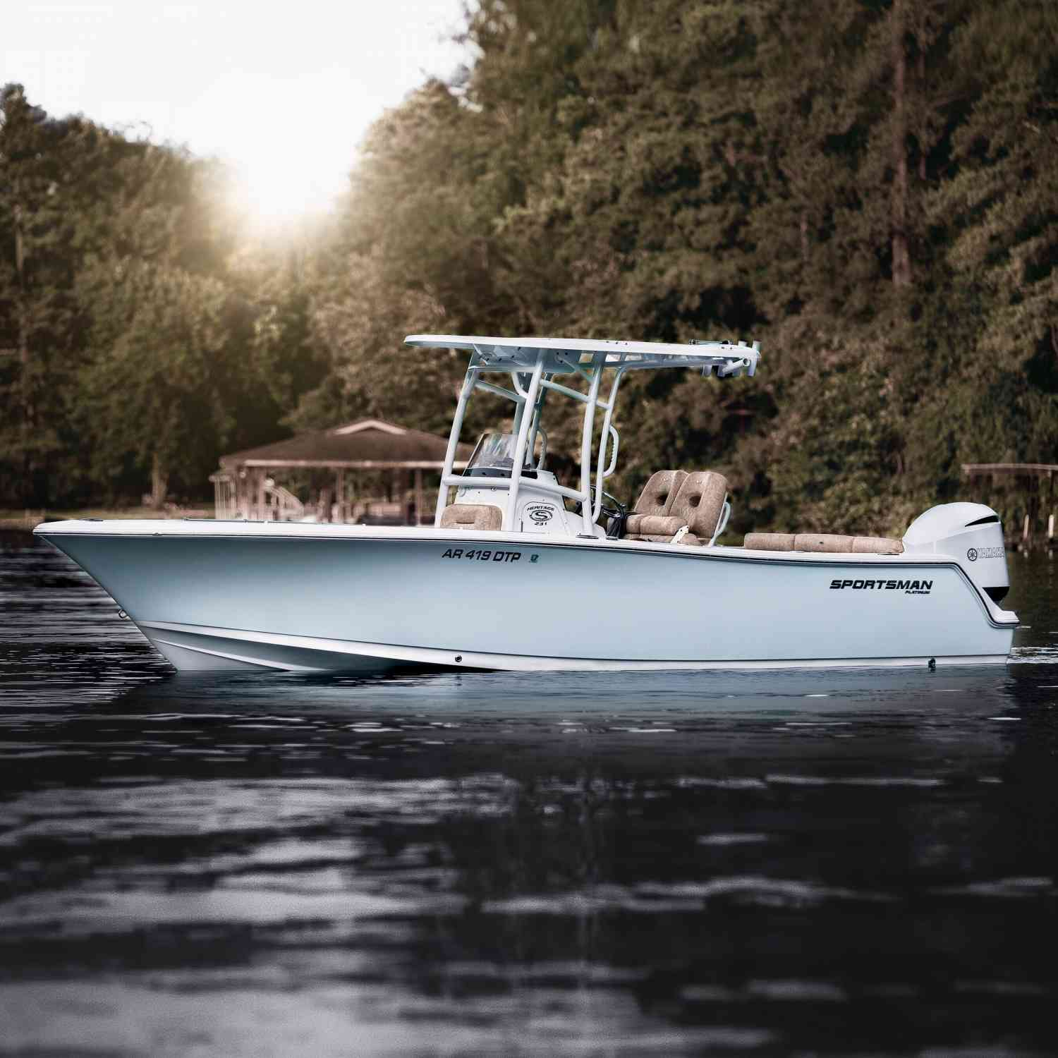 Title: Ice blue - On board their Sportsman Heritage 231 Center Console - Location: Lake Hamilton , Arkansas. Participating in the Photo Contest #SportsmanAugust2020