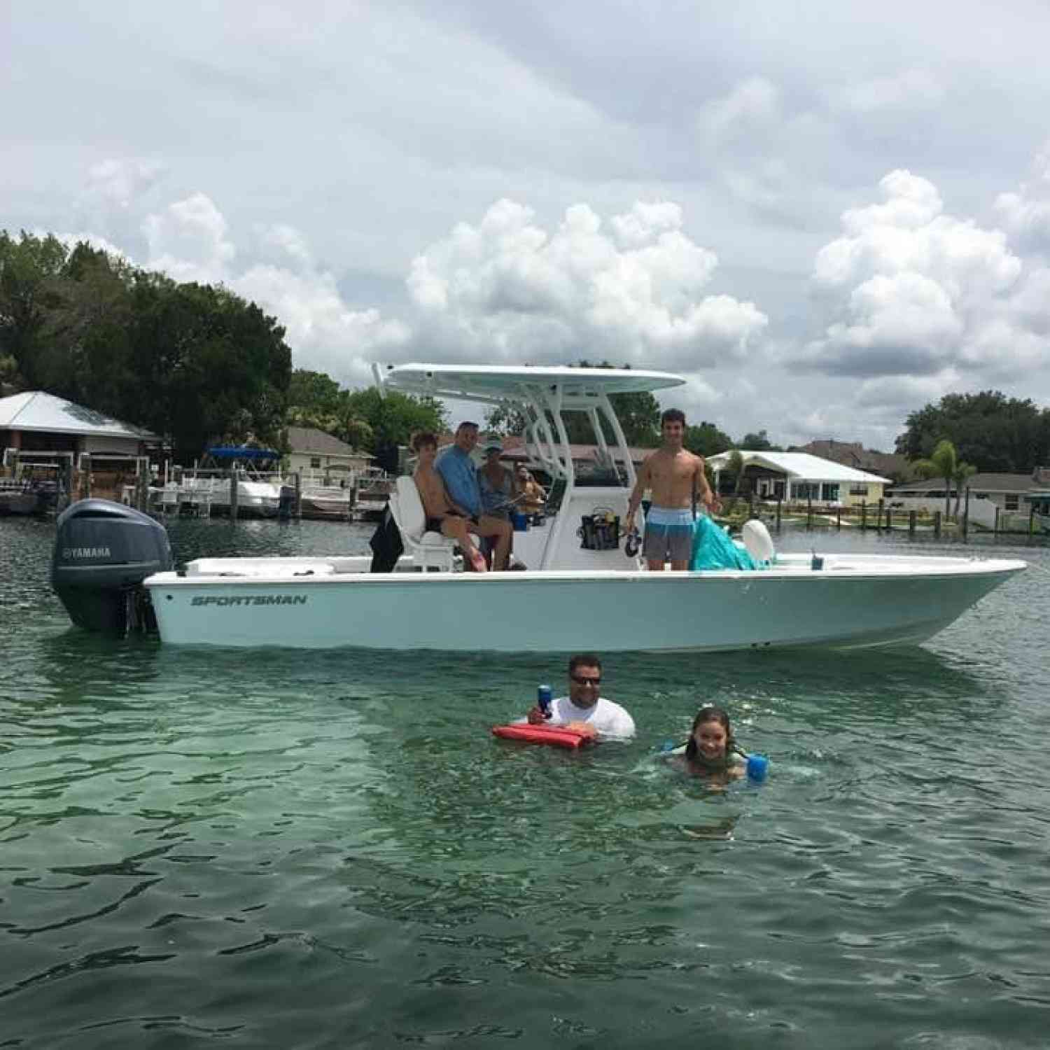 Title: Scalloping to Springs - On board their Sportsman Masters 247 Bay Boat - Location: Crystal River, FL. Participating in the Photo Contest #SportsmanAugust2020