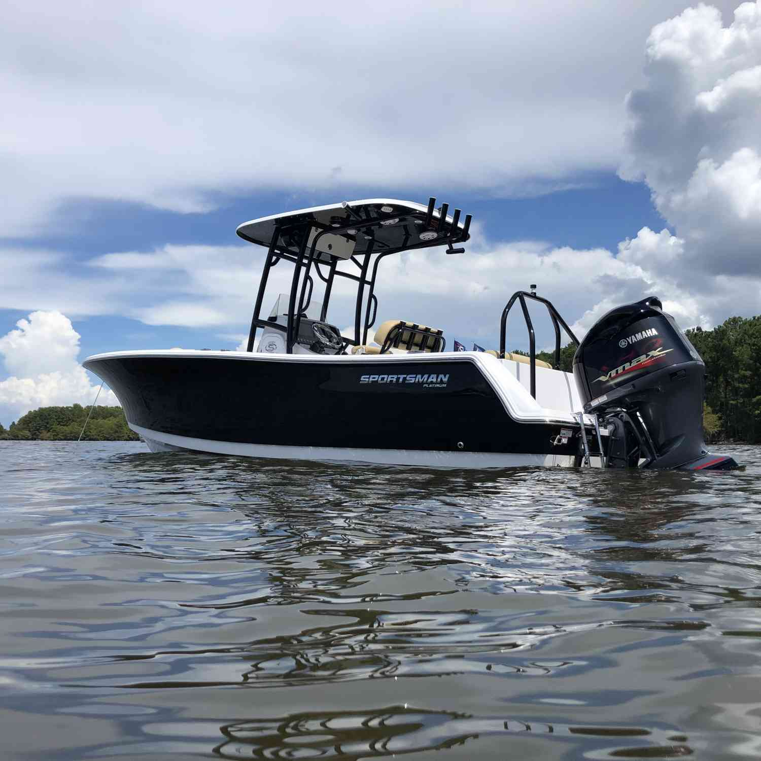 Title: The Maiden voyage - On board their Sportsman Open 232 Center Console - Location: Maiden voyage. Participating in the Photo Contest #SportsmanAugust2020