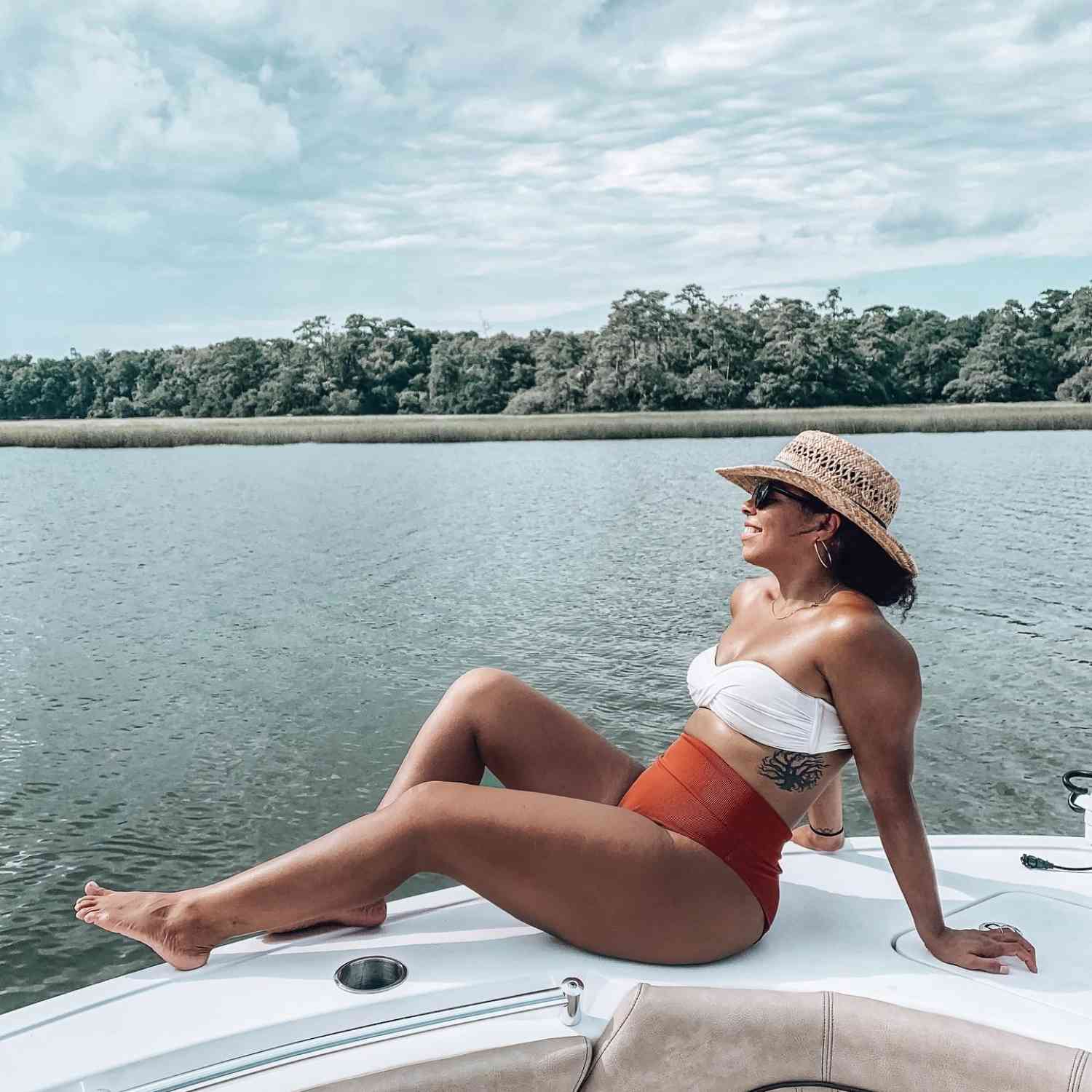 Title: Relaxation - On board their Sportsman Heritage 211 Center Console - Location: Charleston, SC. Participating in the Photo Contest #SportsmanAugust2020